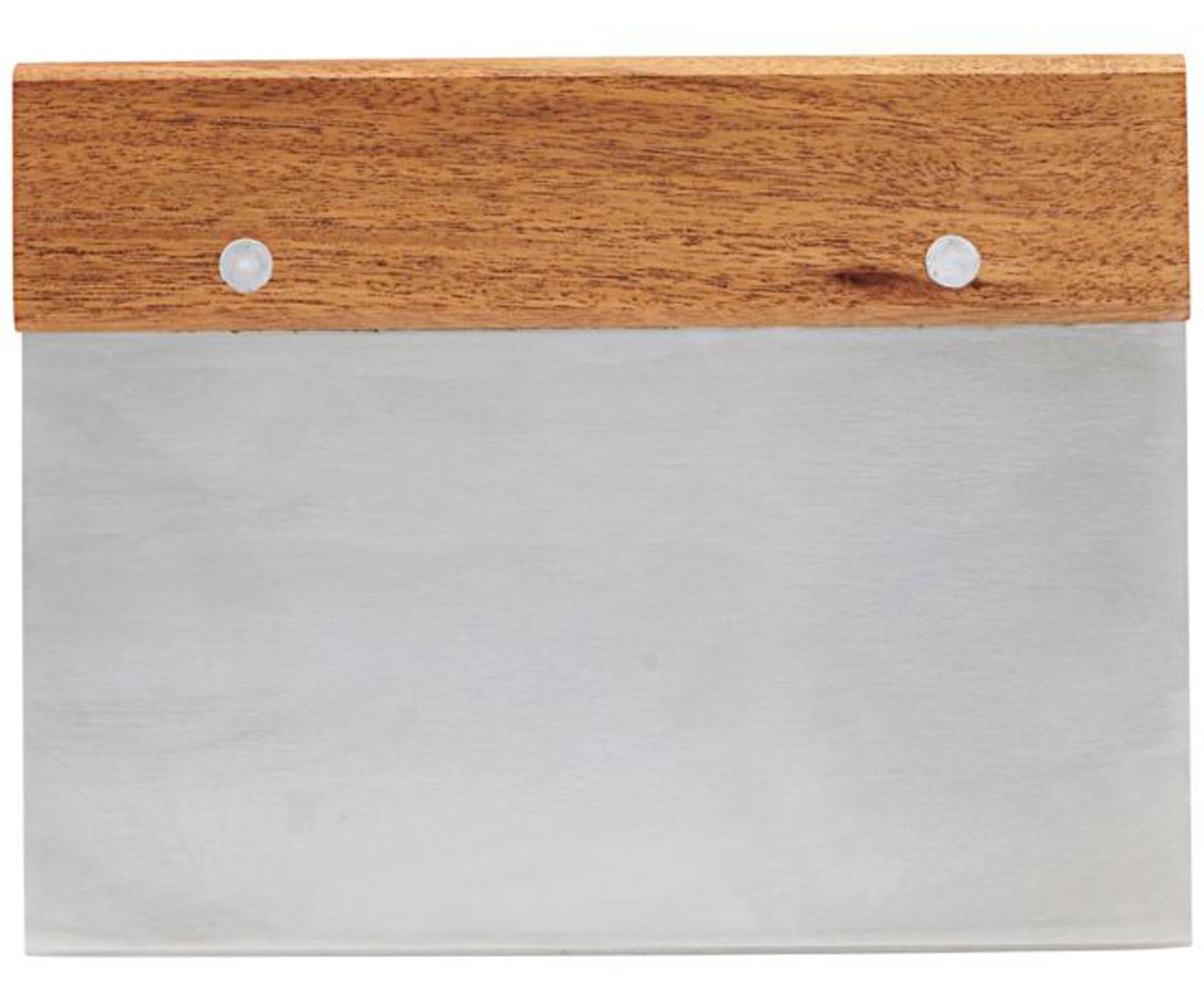 Deegsnijder Puka, Acaciahoutkleurig, edelstaalkleurig, Acaciahoutkleurig, edelstaalkleurig, 15 x 12 cm