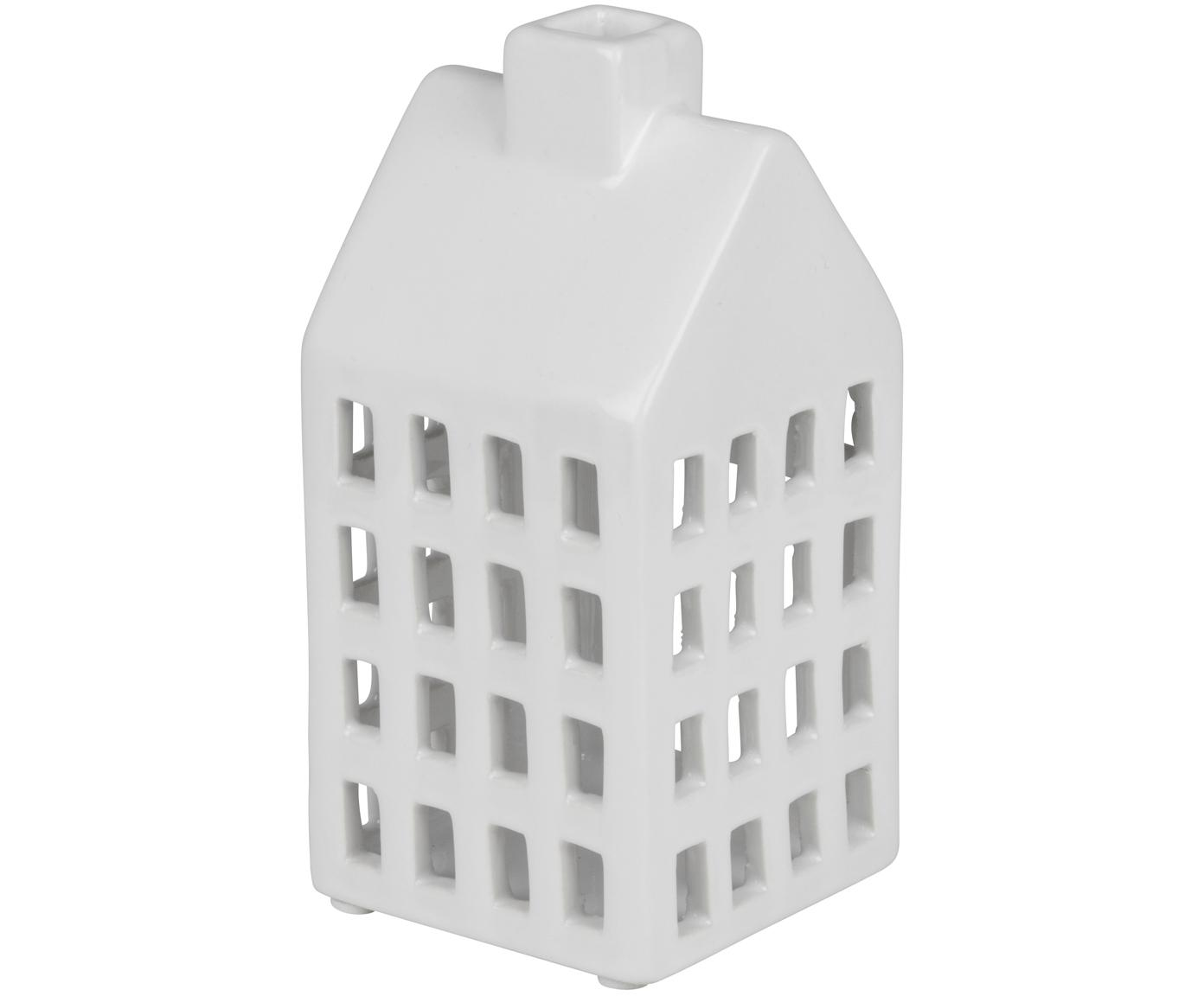 Świecznik Hemma, Ceramika, Biały, S 8 x W 16 cm