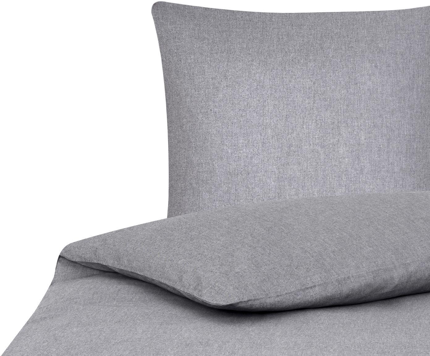Pościel Cashmere, 93% bawełna, 7% kaszmir, Szary, 135 x 200 cm