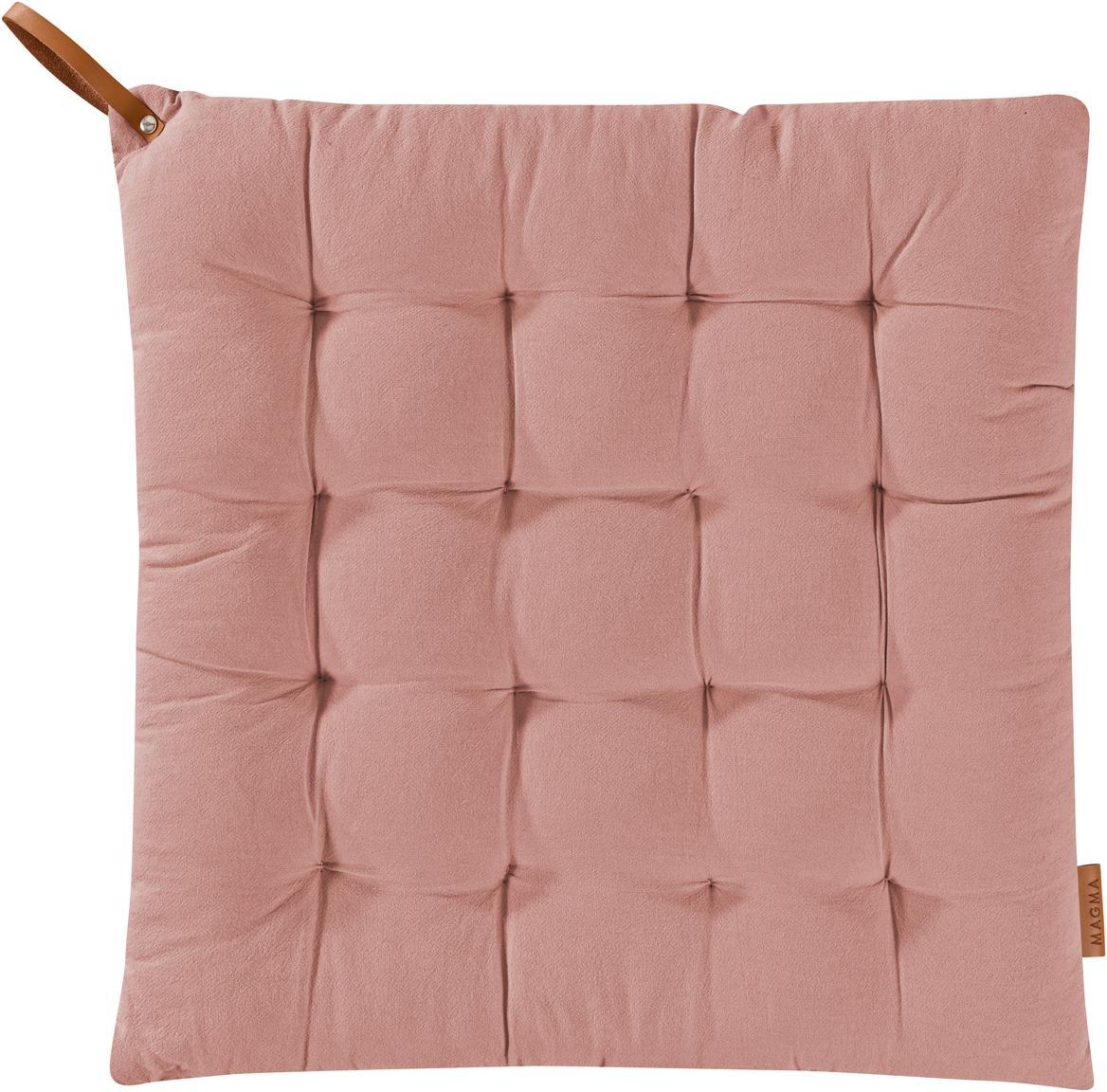 Cuscino sedia Billie, Cotone, Rosa cipria, Larg. 40 x Lung. 40 cm