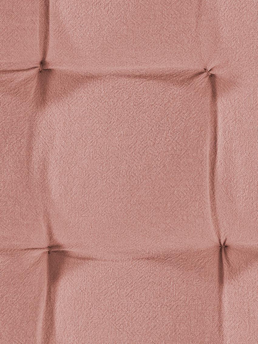 Sitzkissen Billie, 100% Baumwolle, Altrosa, 40 x 40 cm