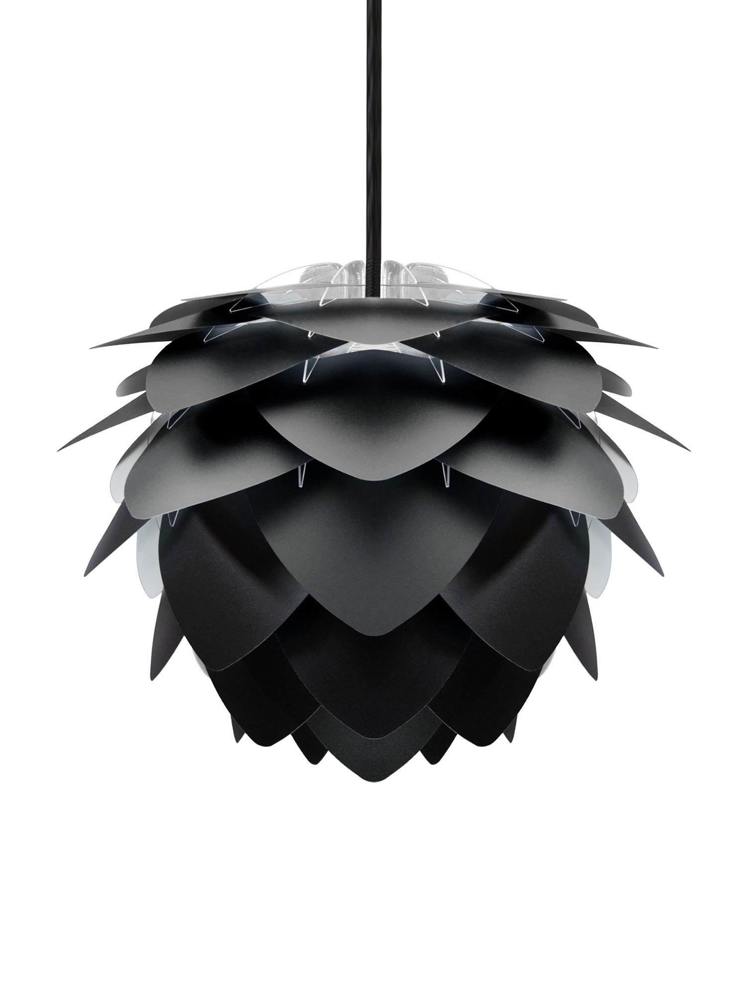 Lampada a sospensione Silvia, Paralume: polipropilene, Nero, Ø 50 x Alt. 41 cm