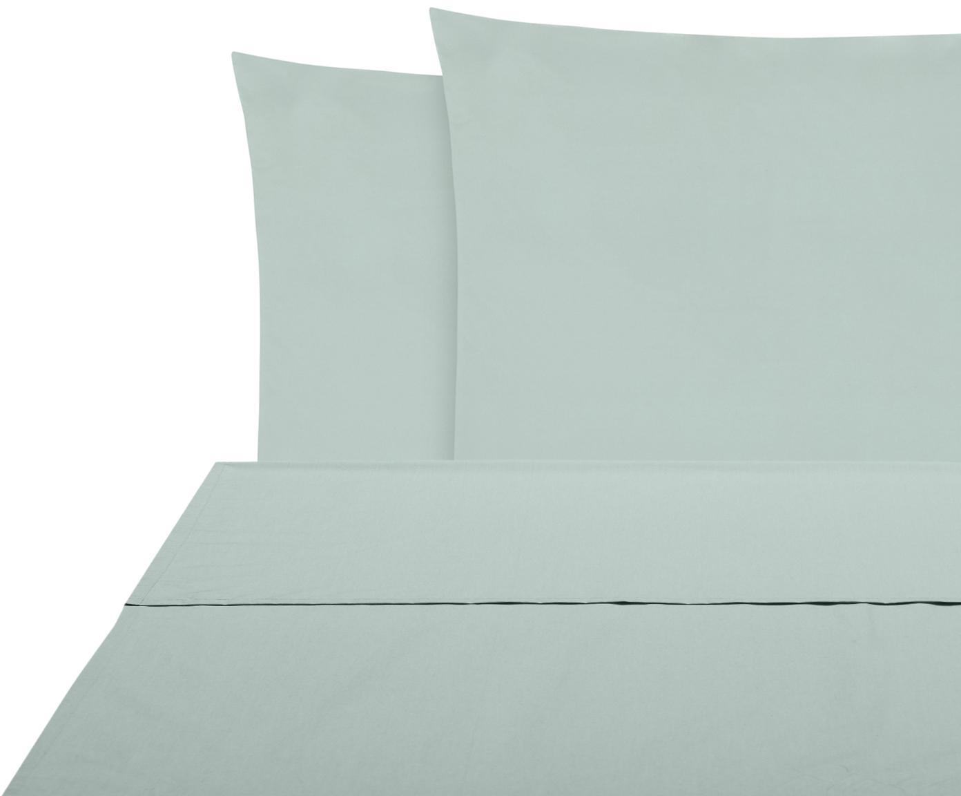 Set lenzuola in percalle Elsie 2 pz, Tessuto: percalle Densità del filo, Verde salvia, 240 x 300 cm