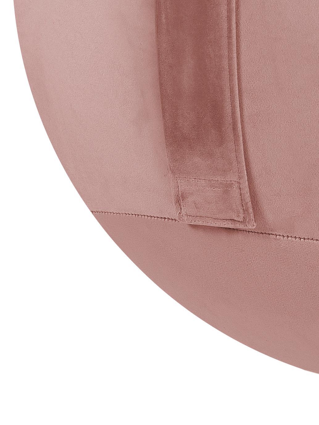 Samt-Sitzball Velvet, Bezug: Polyestersamt, Altrosa, Ø 65 cm