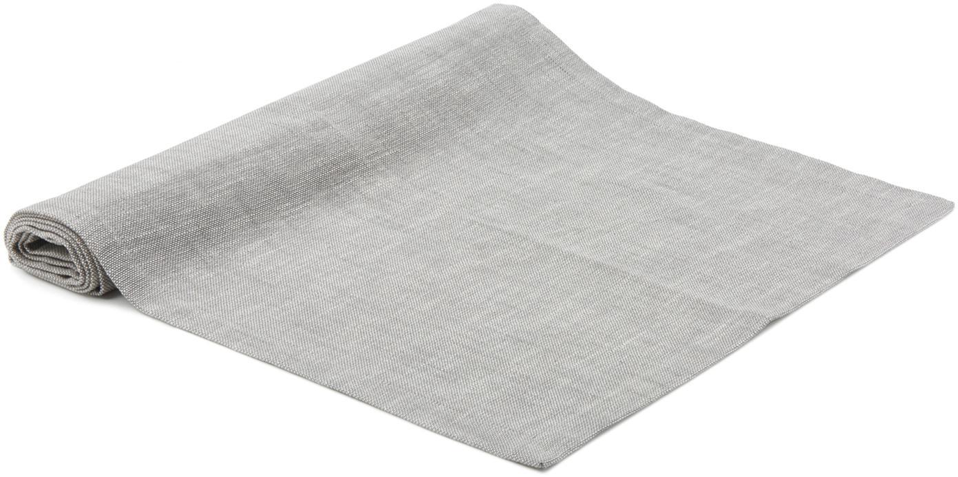 Tischläufer Tonnika, Baumwolle, Grau, 45 x 150 cm