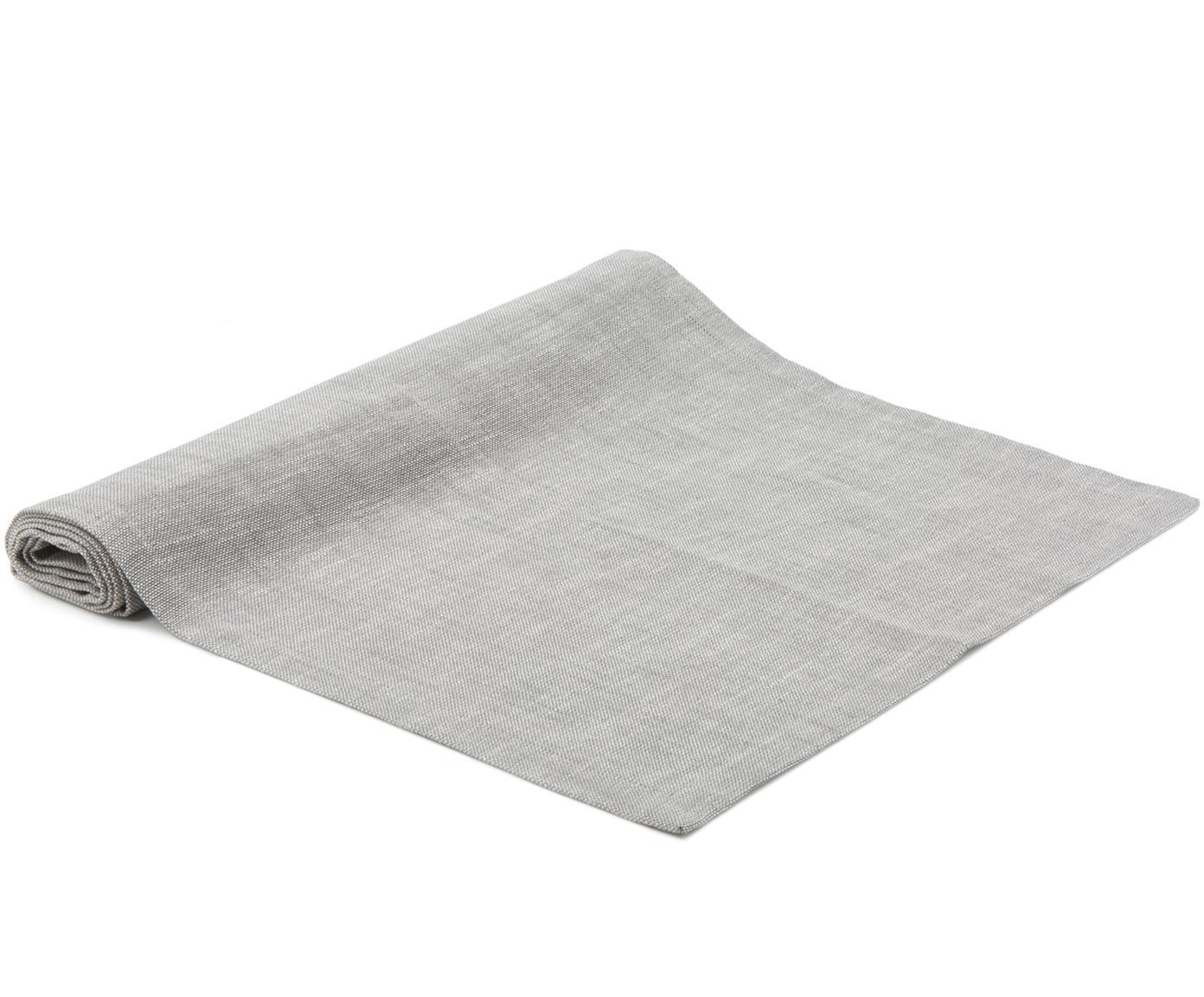 Runner da tavolo Tonnika, Cotone, Grigio, Larg. 45 x Lung. 150 cm
