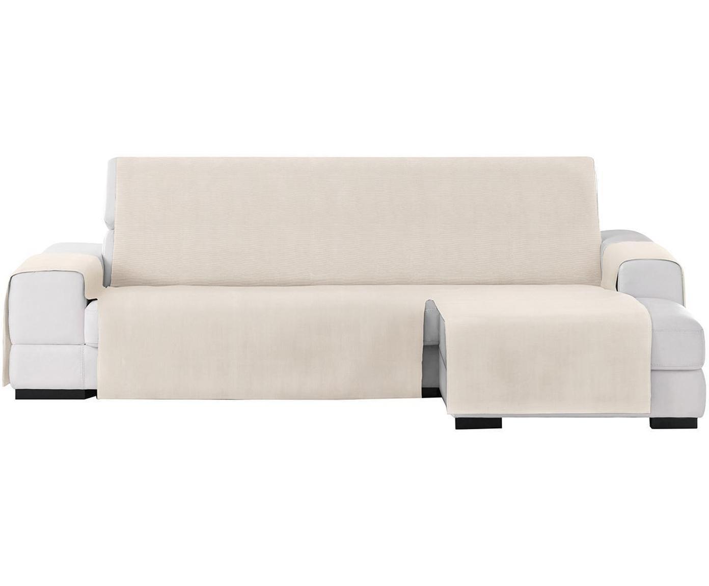 Funda de sofá Levante, 50%algodón, 50%poliéster, Beige, Brazo corto (240 cm)