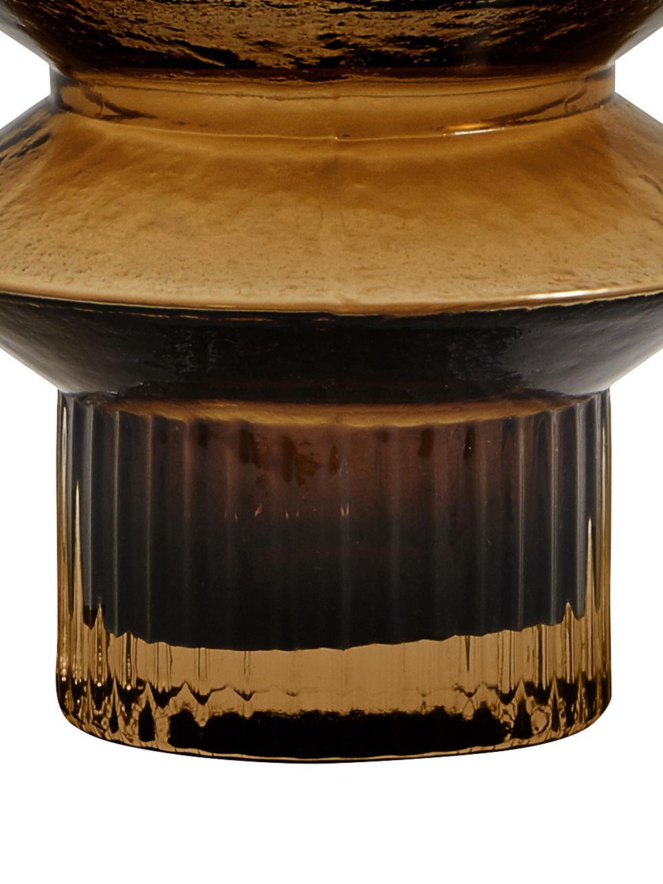 Vaso in vetro Rilla, Vetro, Ambra, Ø 10 x Alt. 21 cm