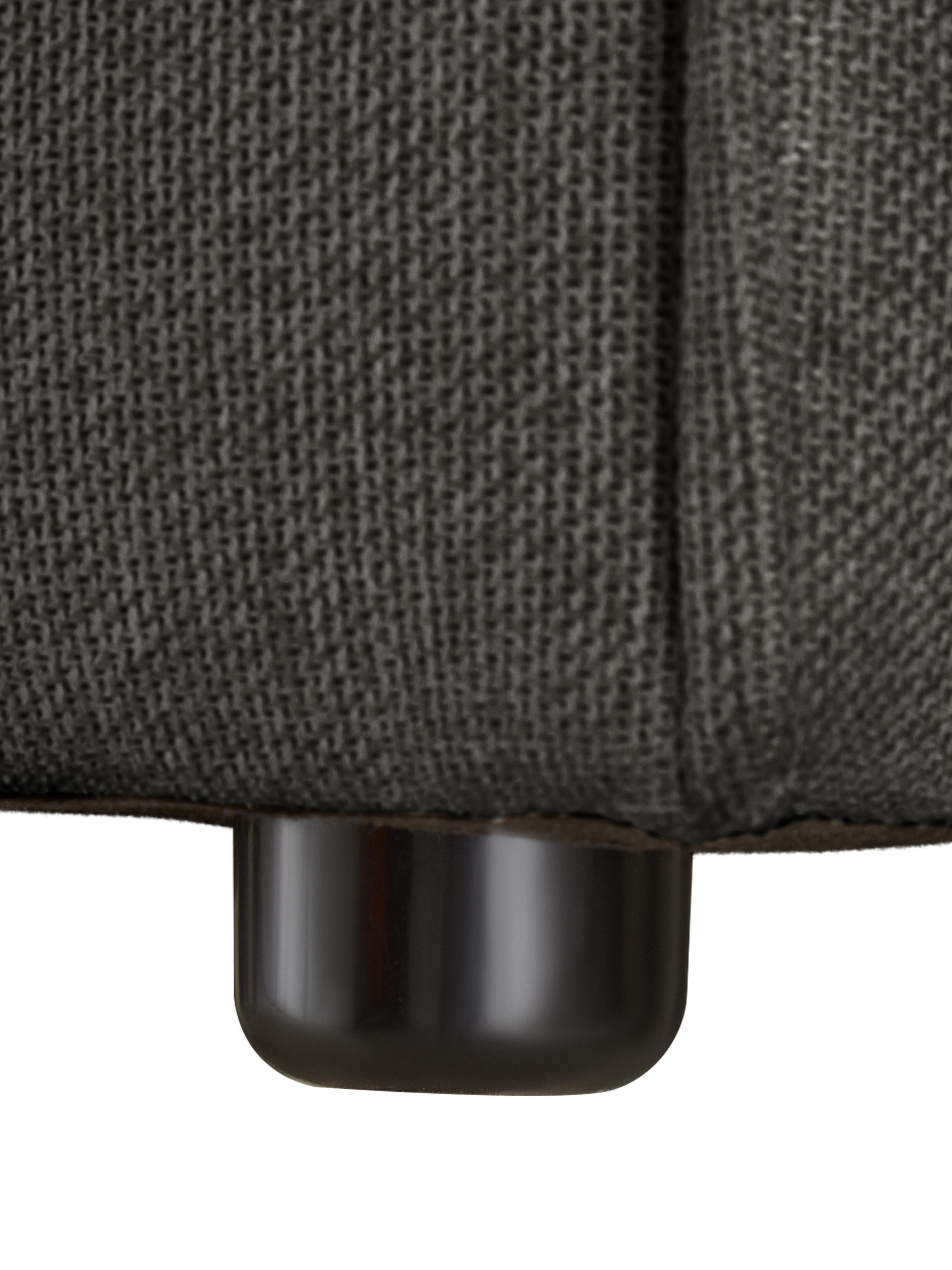 Modulare Ottomane Lennon, Bezug: Polyester Der hochwertige, Gestell: Massives Kiefernholz, Spe, Füße: Kunststoff, Webstoff Anthrazit, B 269 x T 119 cm