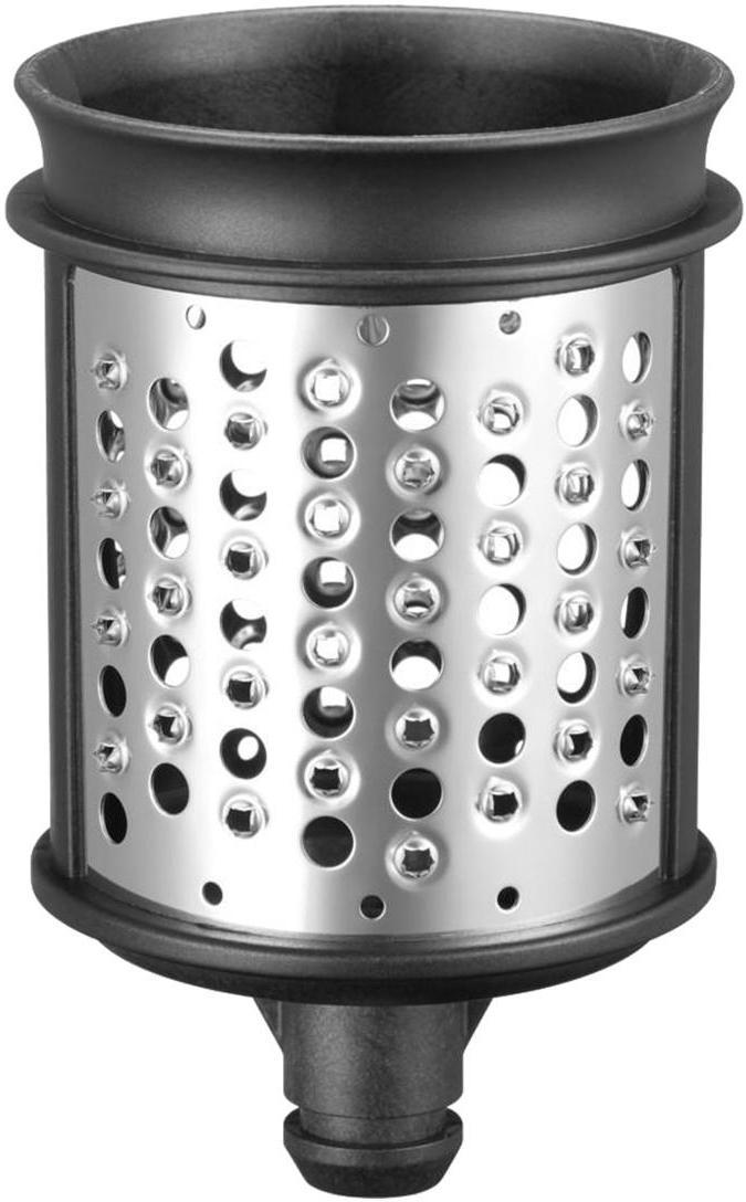Set di accessori per grattuggiare e sminuzzare, 3 pz., Acciaio inossidabile, materiale sintetico, Acciaio inossidabile, nero, Ø 8 x Alt. 12 cm