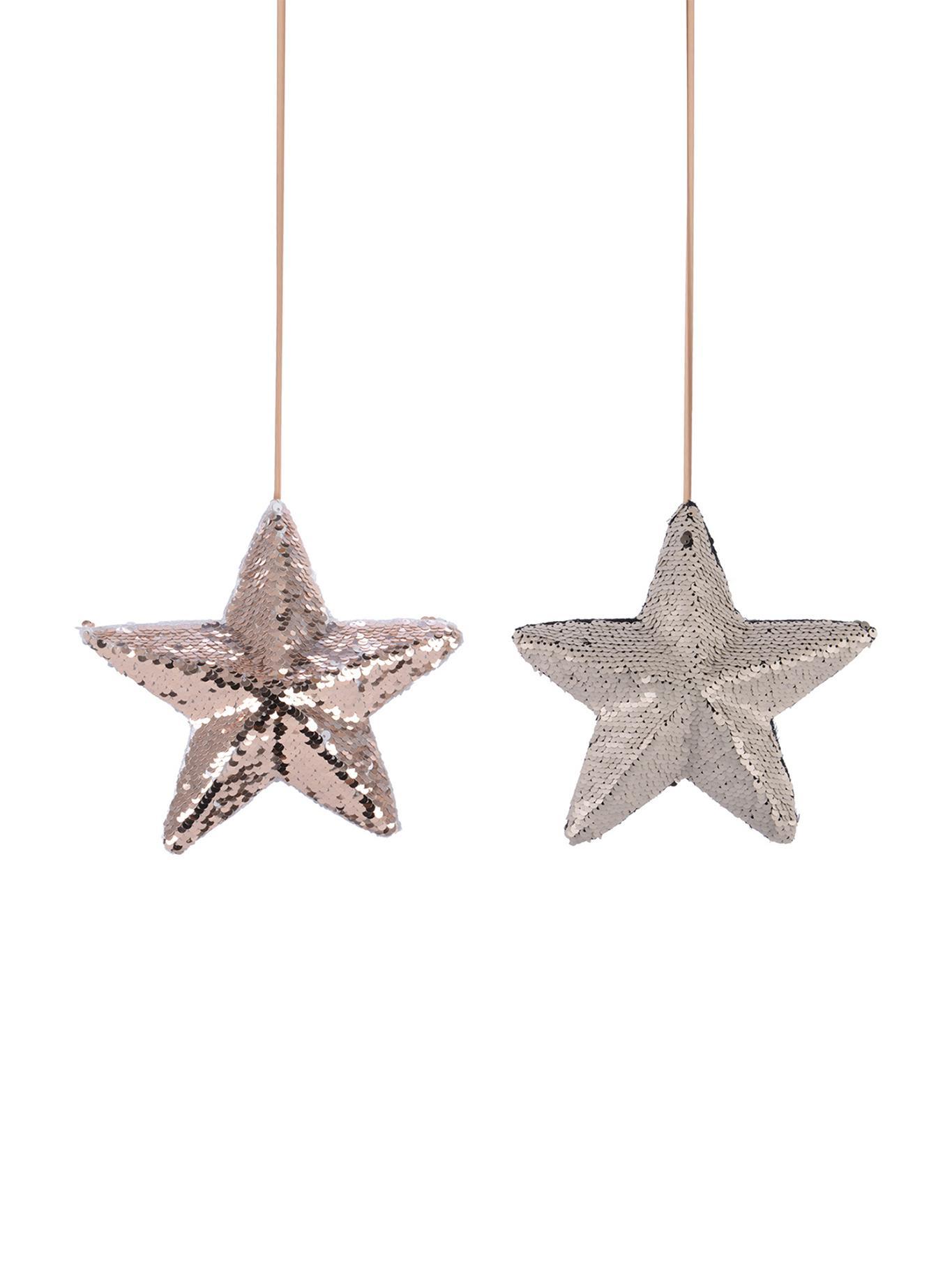 Set de adornos navideños Perky, 2pzas., Rosa, blanco, Ø 20 x F 5 cm