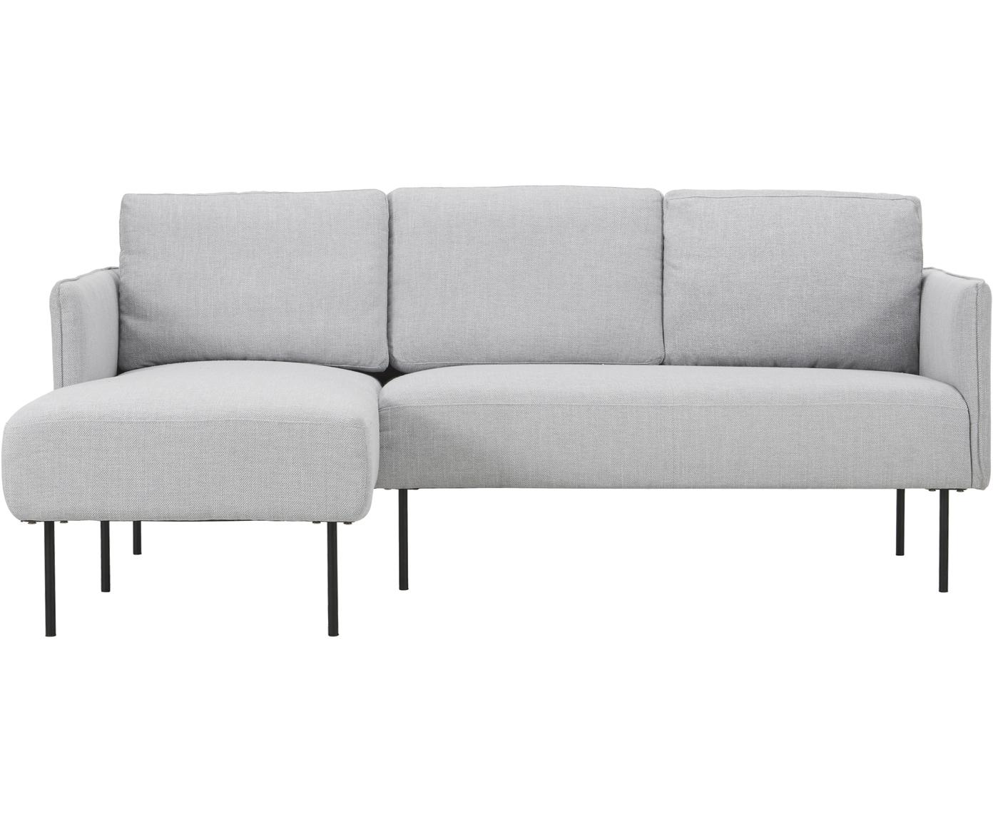 Ecksofa Ramira, Bezug: Polyester 40.000 Scheuert, Gestell: Massives Kiefernholz, Spe, Webstoff Hellgrau, B 192 x T 136 cm