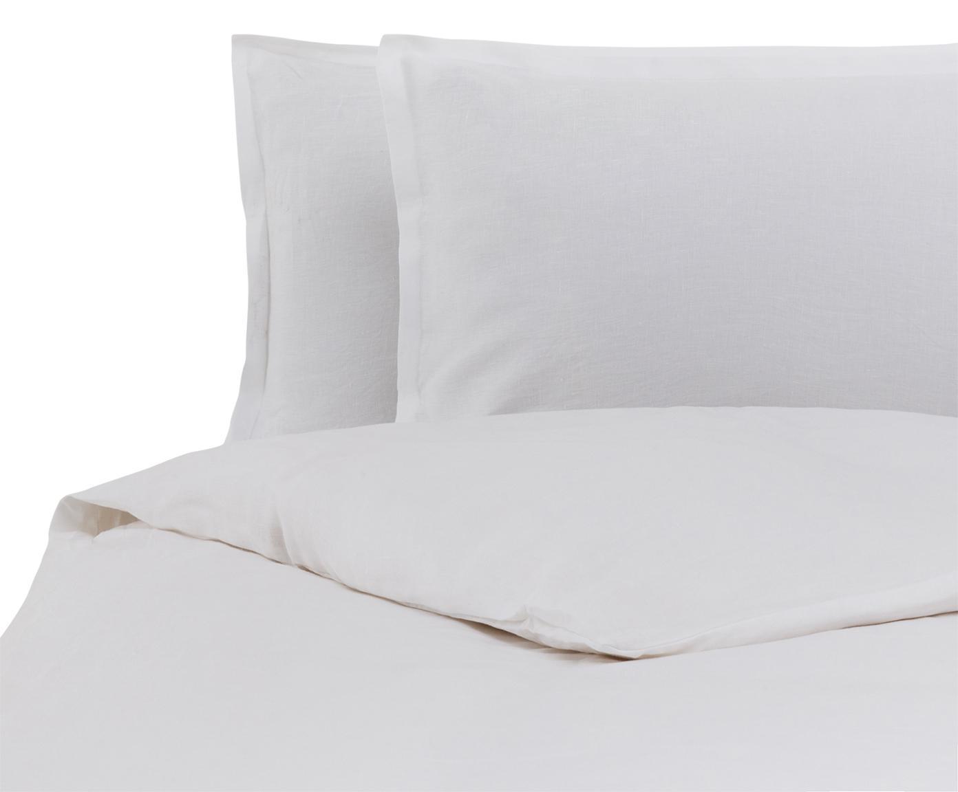 Parure copripiumino in lino Soffio, Bianco, 250 x 260 cm