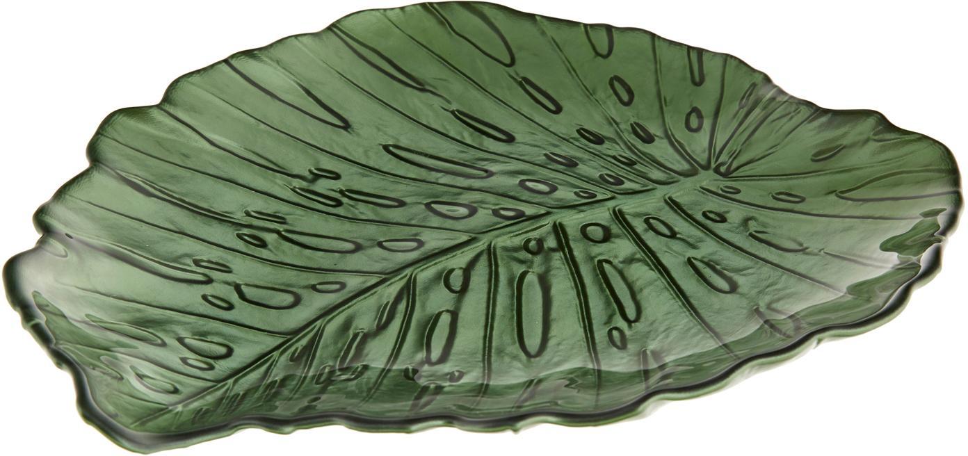 Servierplatte Hellea, Glas, Grün, 35 x 2 cm
