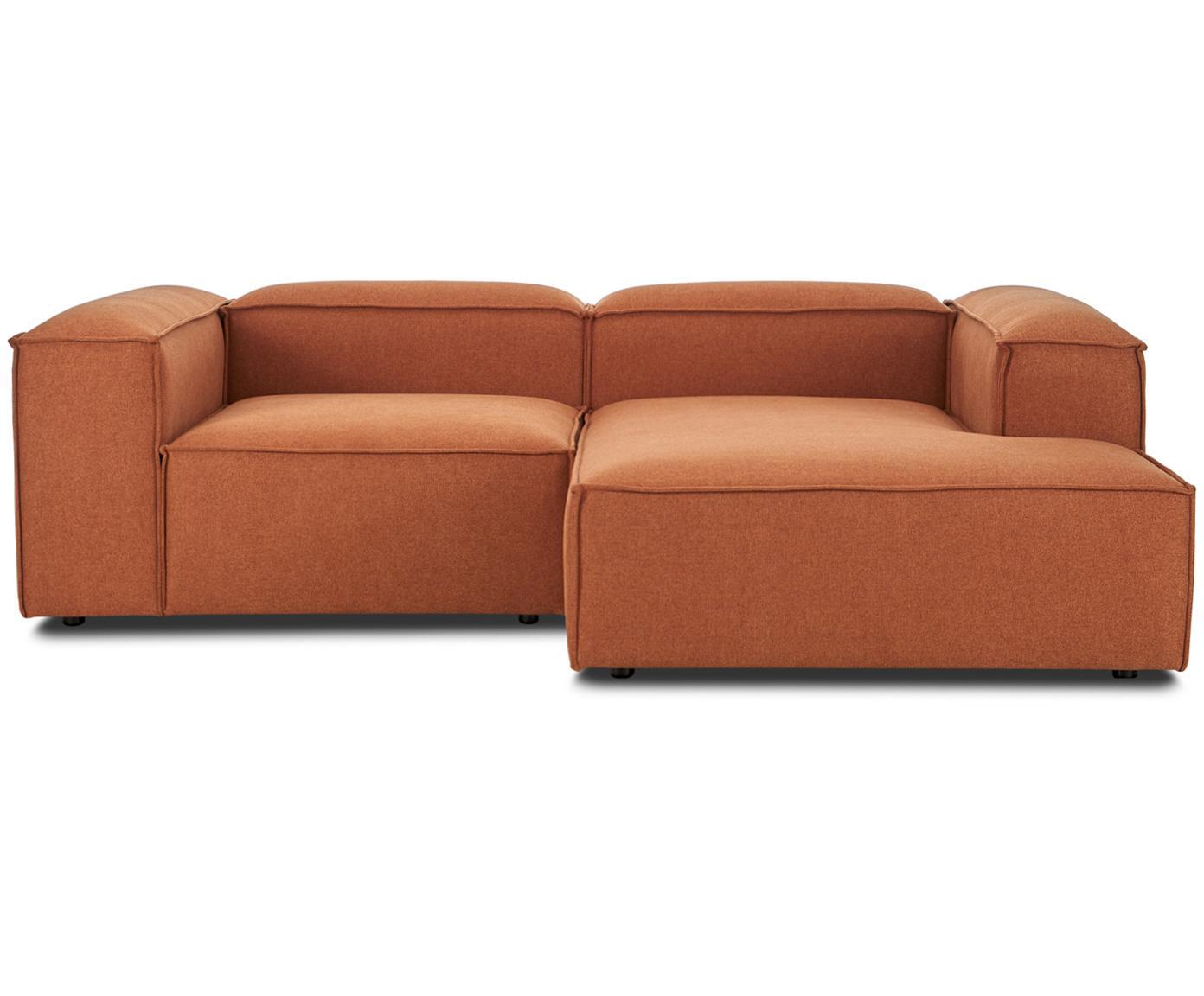 Sofa modułowa narożna Lennon, Tapicerka: poliester 35 000 cykli w , Stelaż: lite drewno sosnowe, skle, Nogi: tworzywo sztuczne, Terakota, S 238 x G 180 cm