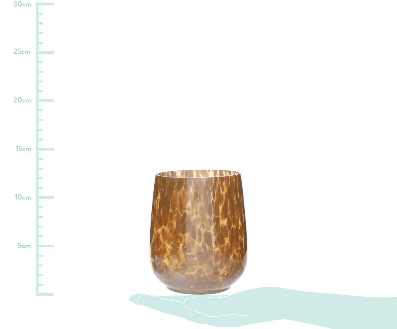 Windlicht Gunia, Glas, Senfgelb, Ø 9 x H 12 cm