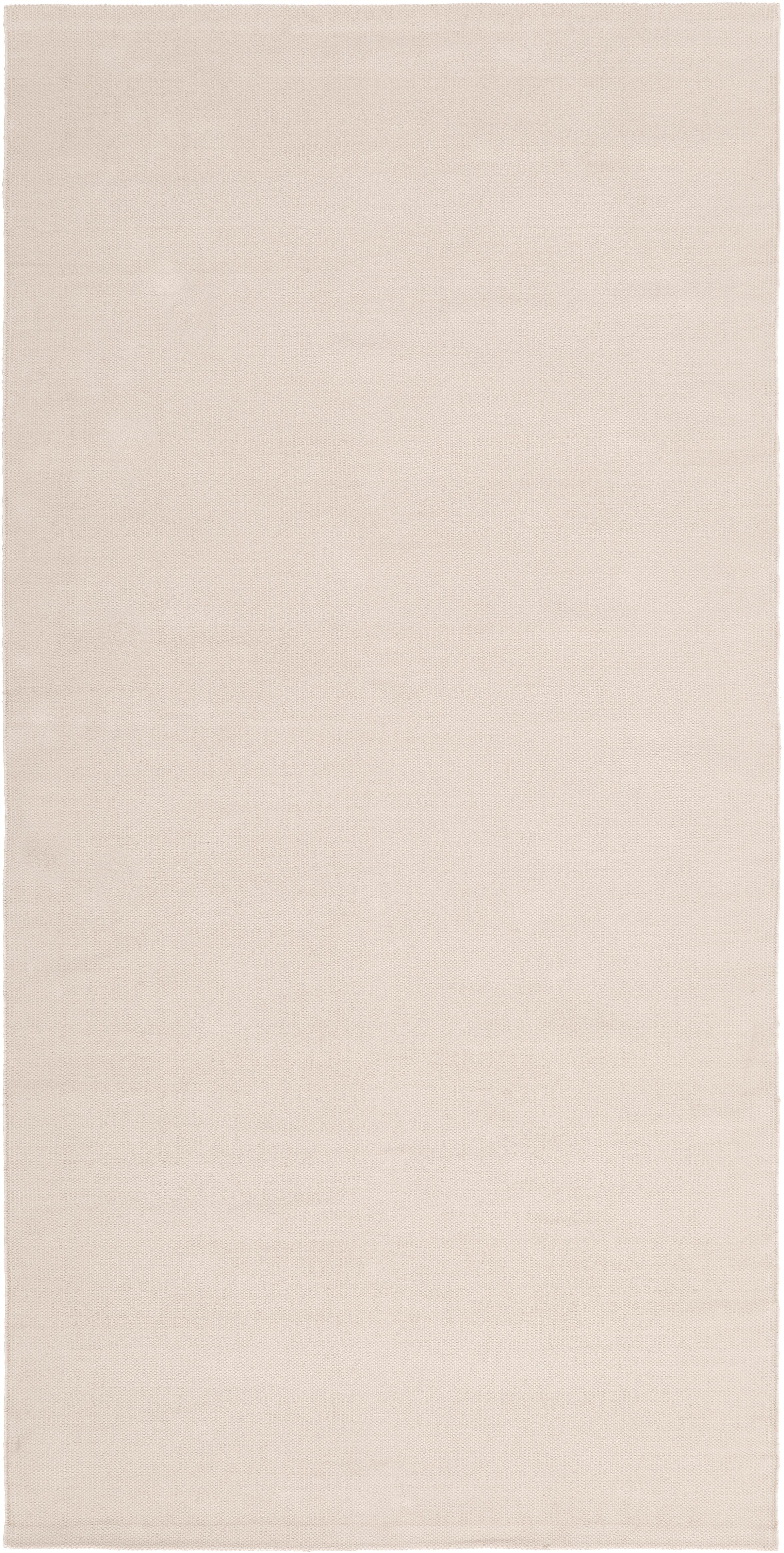 Ręcznie tkany dywan z bawełny Agneta, Bawełna, Beżowy, S 70 x D 140 cm