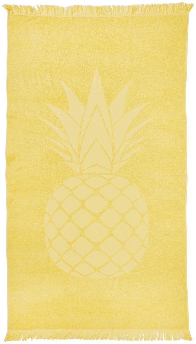 Strandtuch Capri Pineapple, Gelb, 90 x 160 cm