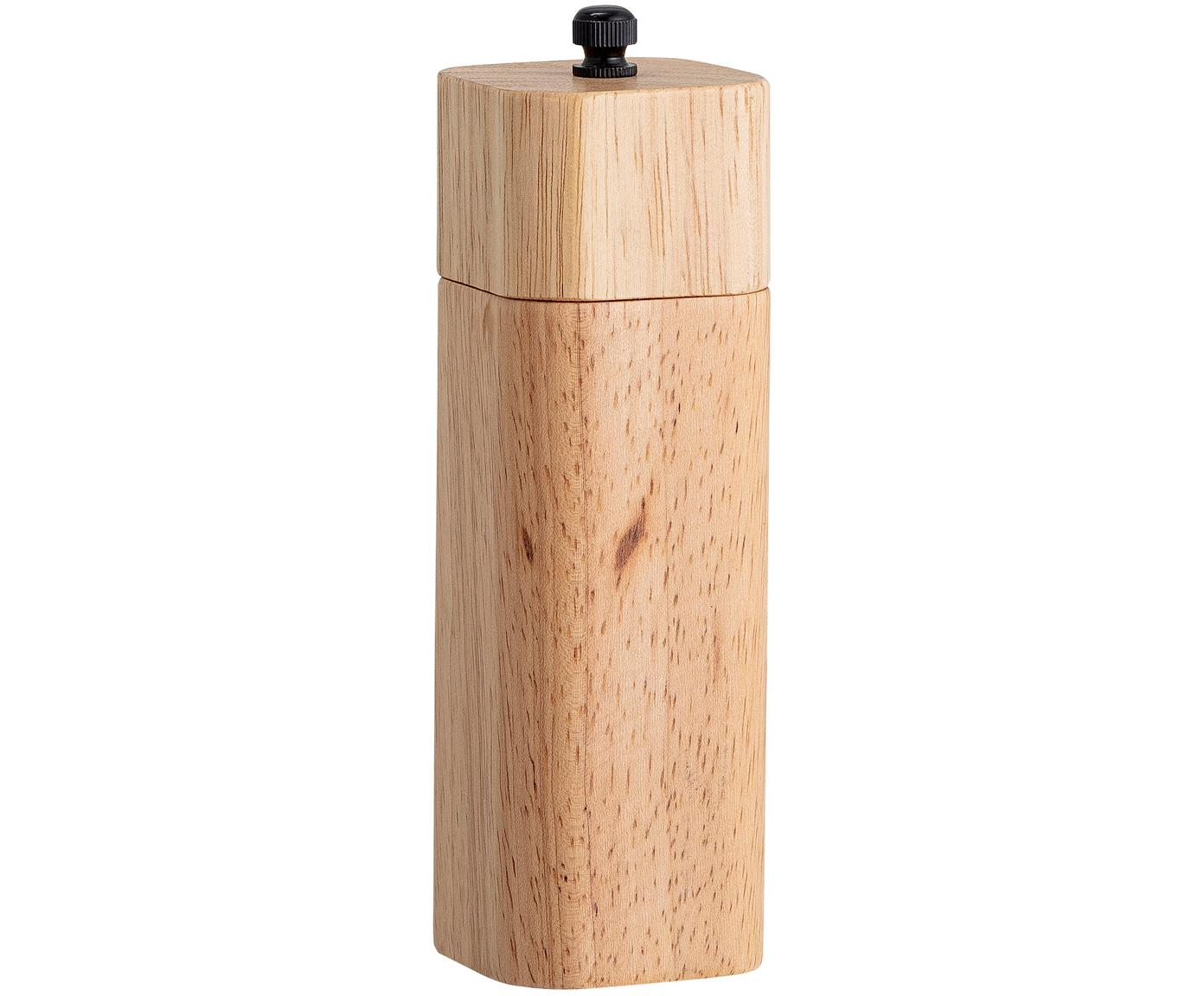 Zout- en pepermolen Mill van hout, Rubberhout, edelstaal, Beige, Ø 9 x H 8 cm