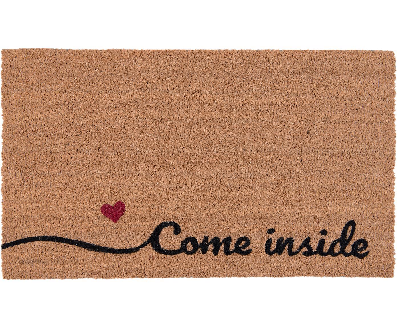Zerbino Come Inside, Marrone, nero, rosso, Larg. 45 x Lung. 75 cm