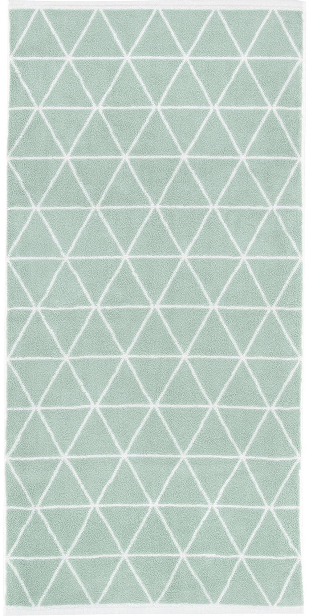 Wende-Handtuch Elina in verschiedenen Größen, mit grafischem Muster, Mintgrün, Cremeweiß, Handtuch