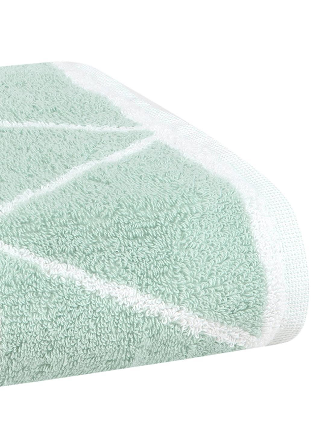 Asciugamano reversibile con motivo grafico Elina, Verde menta, bianco crema, Asciugamano