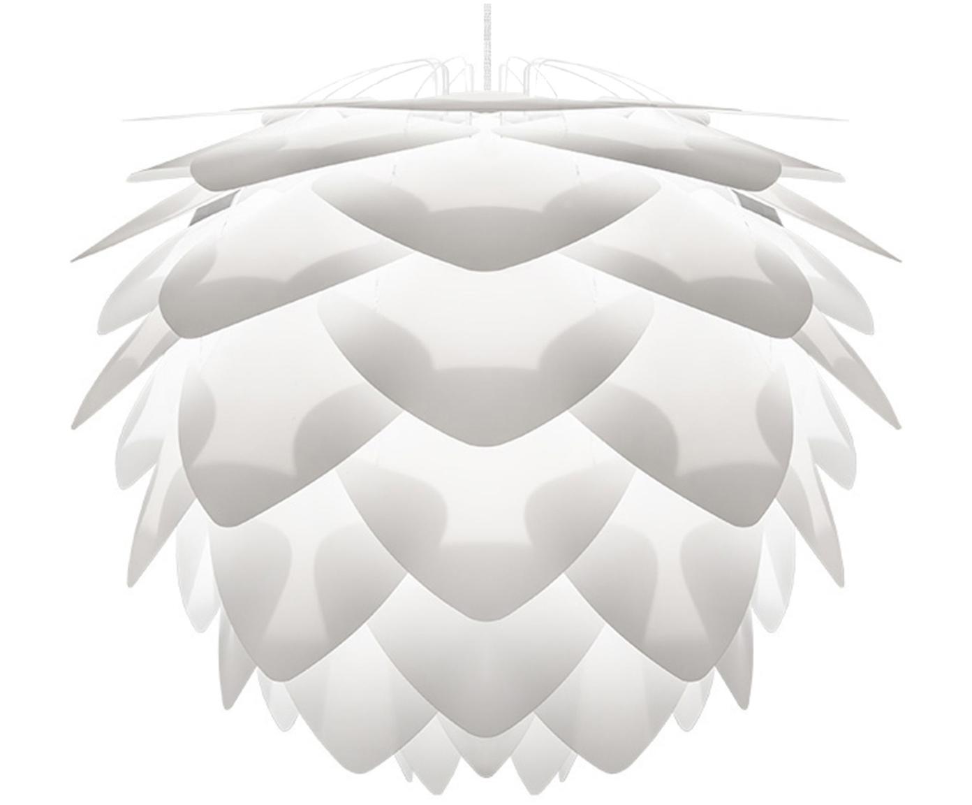 Lampada a sospensione Silvia, Paralume: polipropilene, Bianco, Ø 32 x Alt. 25 cm