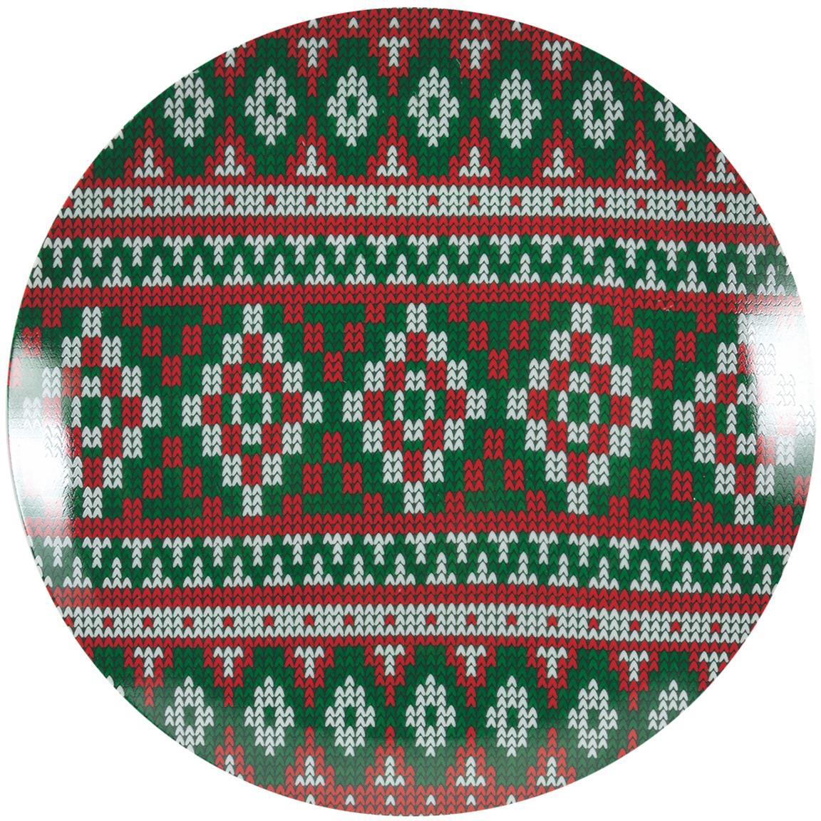 Service de table Noël porcelaine multicolore Chalet, 18élém., Multicolore
