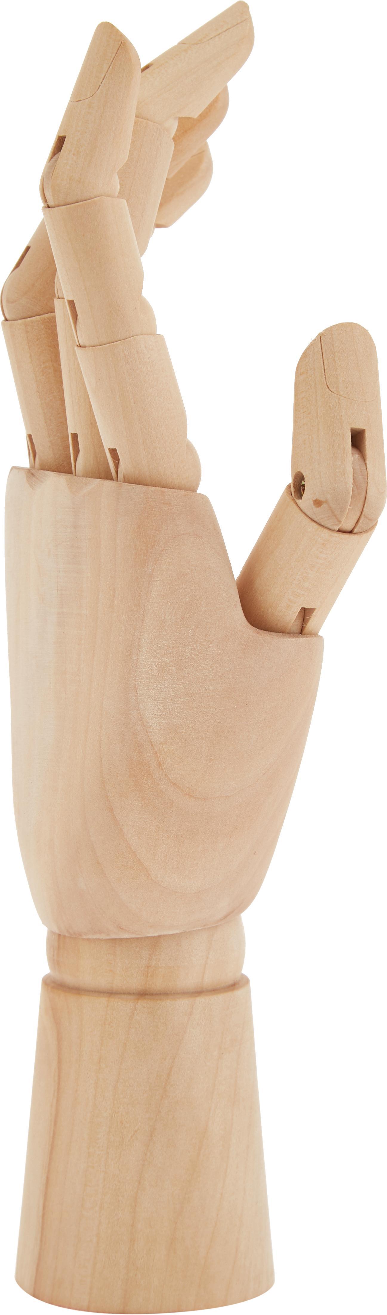 Figura decorativa Hand, Madera, Bayo, An 7 x Al 25 cm