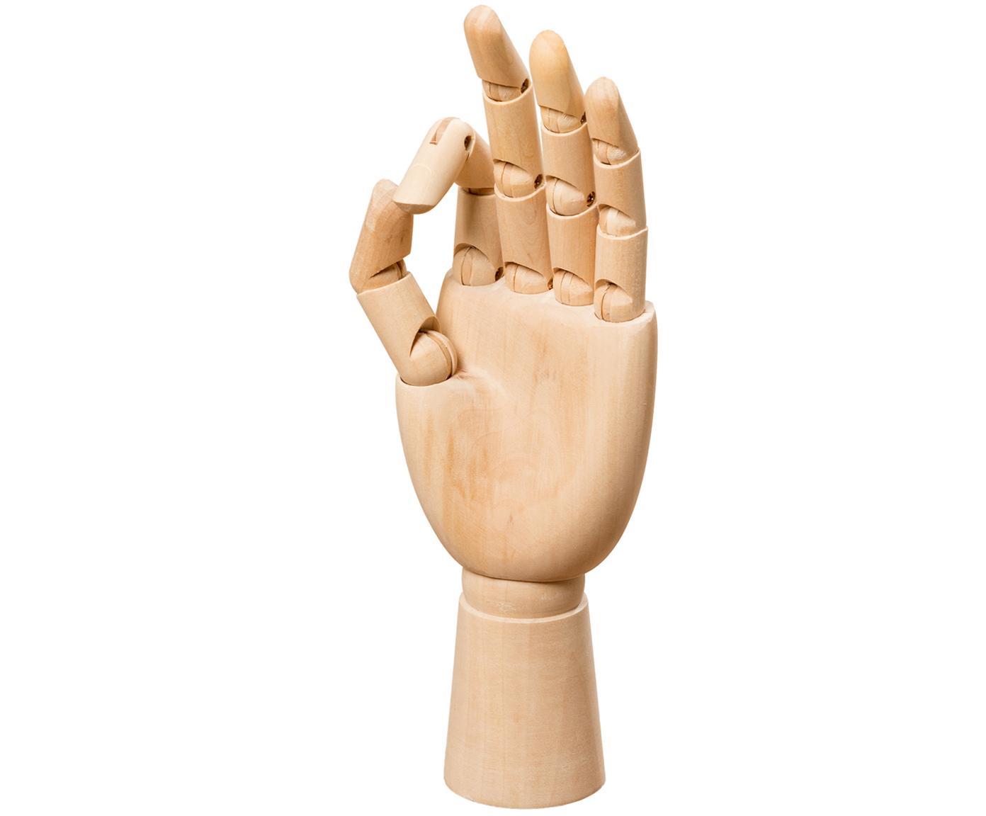 Deko-Objekt Hand, Grasbaum, Hellbraun, 7 x 25 cm