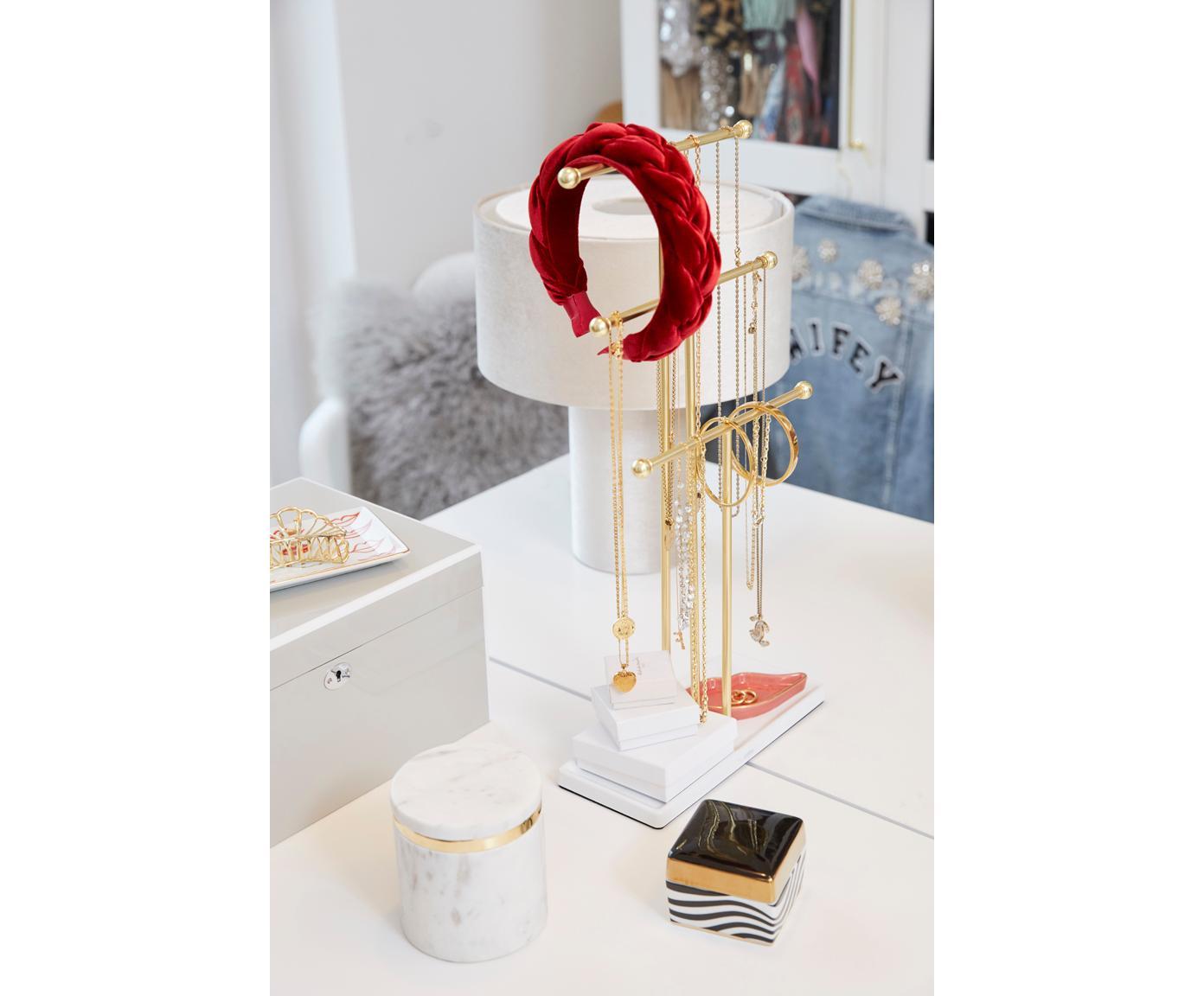 Porte-bijoux Trigem, Blanc, couleur laiton
