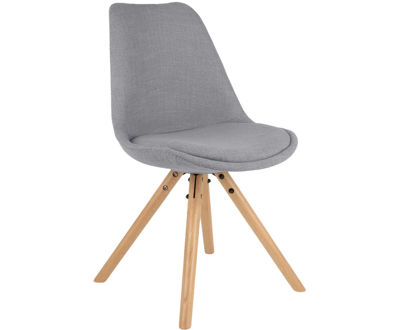 Krzesło tapicerowane scandi Max, 2 szt., Tapicerka: poliester 20000 cykli w , Tapicerka: pianka, Nogi: drewno bukowe, Szary, S 46 x G 54 cm