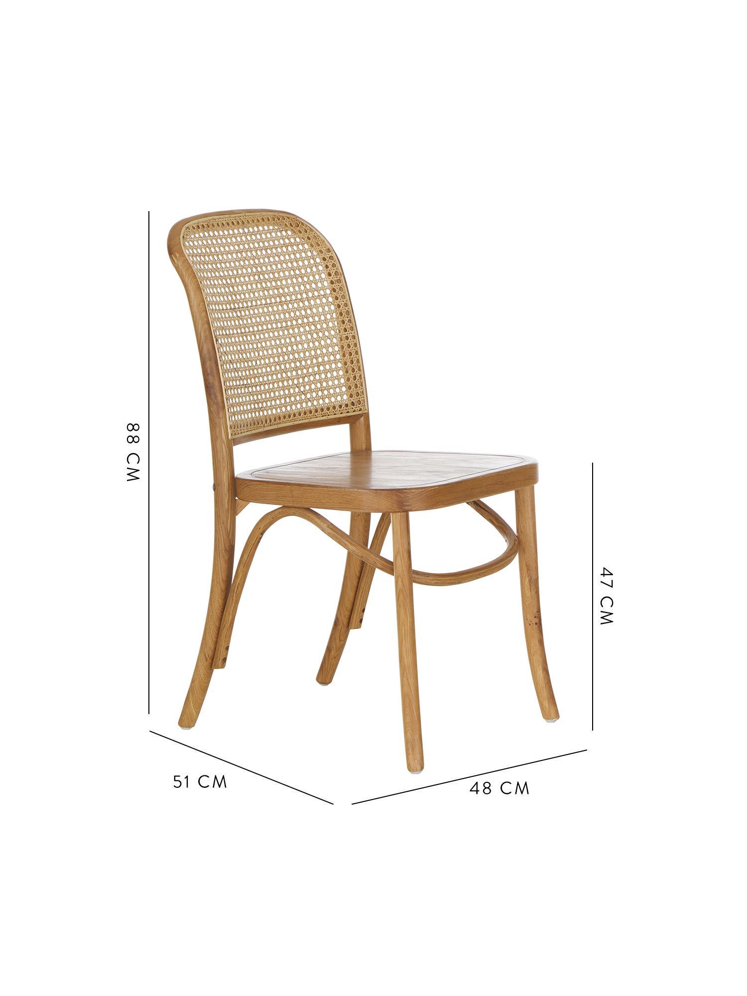 Chaise en cannage Franz, Brun