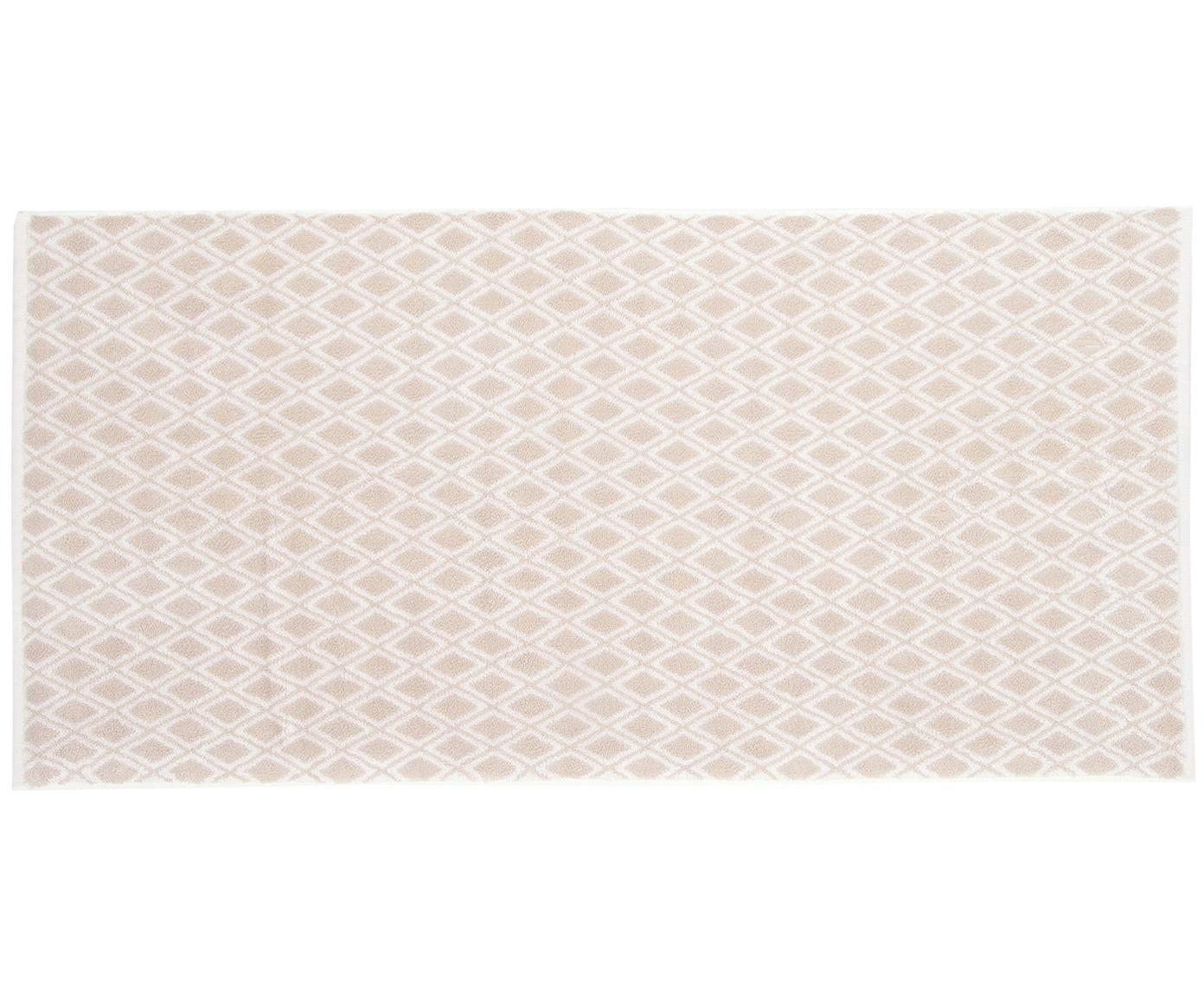 Wende-Handtuch Ava in verschiedenen Größen, mit grafischem Muster, Sandfarben, Cremeweiß, Handtuch