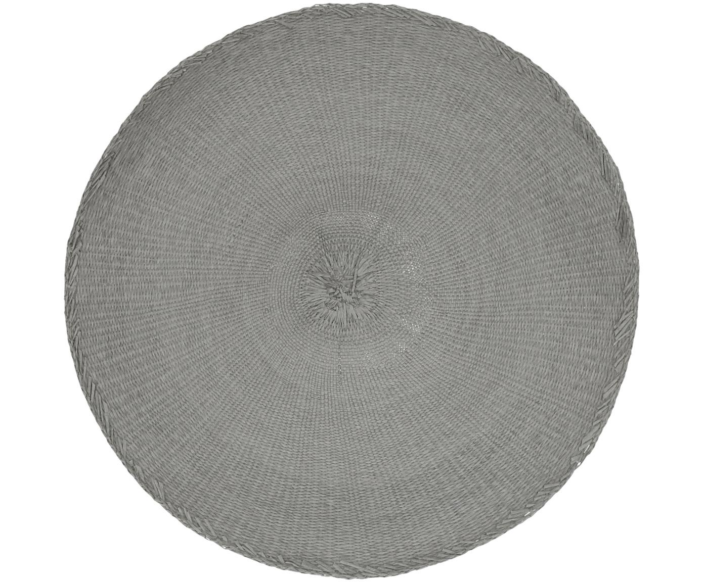 Ronde placemats Kolori, 2 stuks, Papiervezels, Grijs, Ø 38 cm