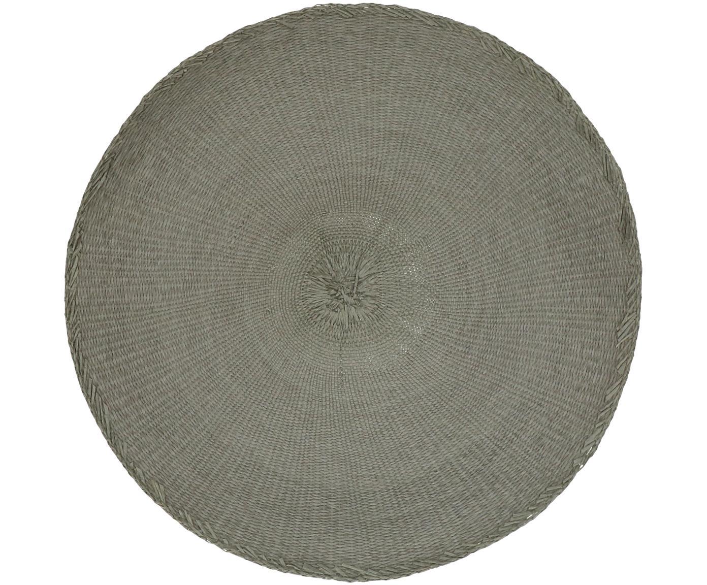 Runde Tischsets Kolori, 2 Stück, Papierfasern, Grau, Ø 38 cm