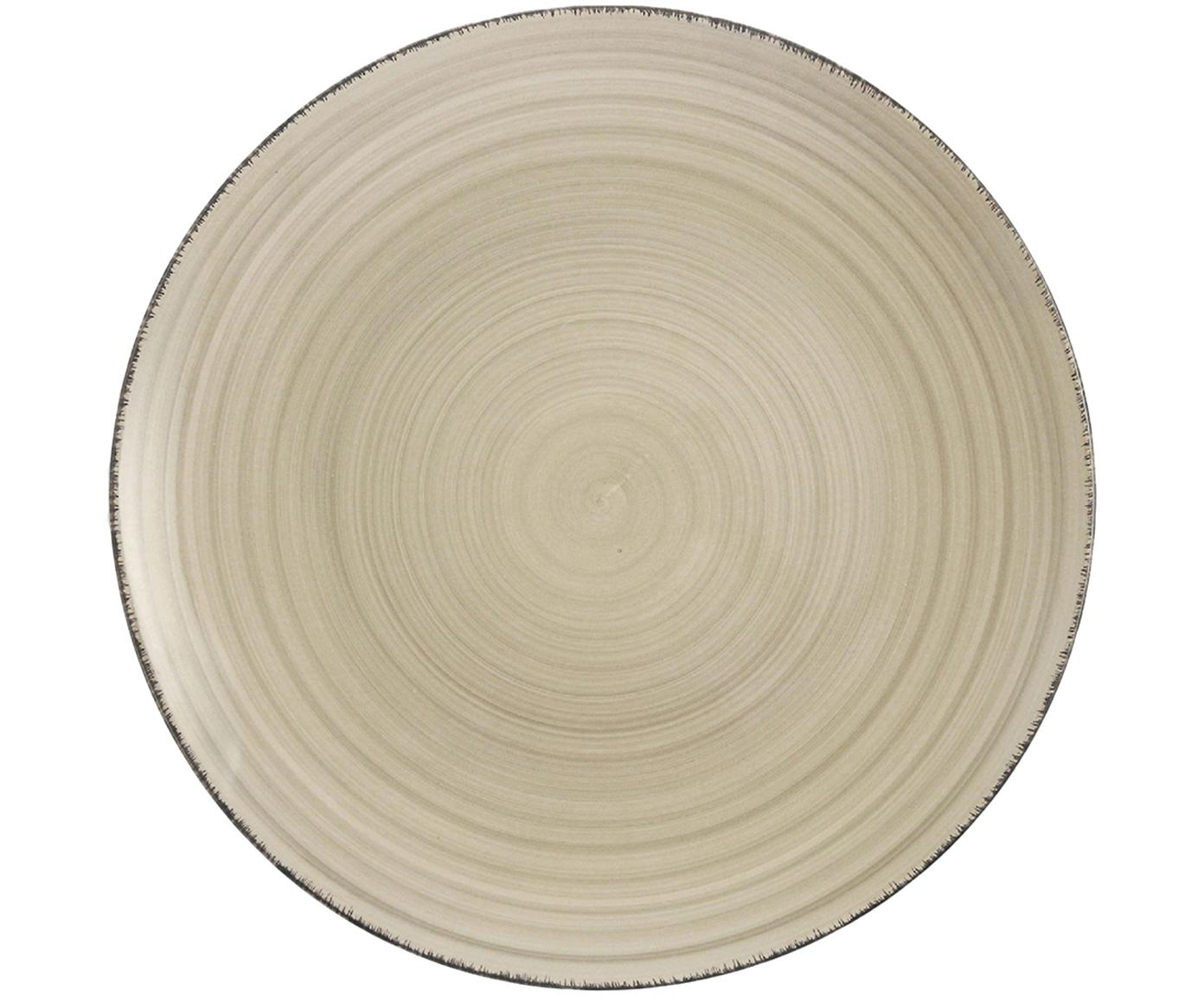 Dinerbord Baita, 6 stuks, Handbeschilderde keramiek (hard dolomiet), Grijs, Ø 27 cm