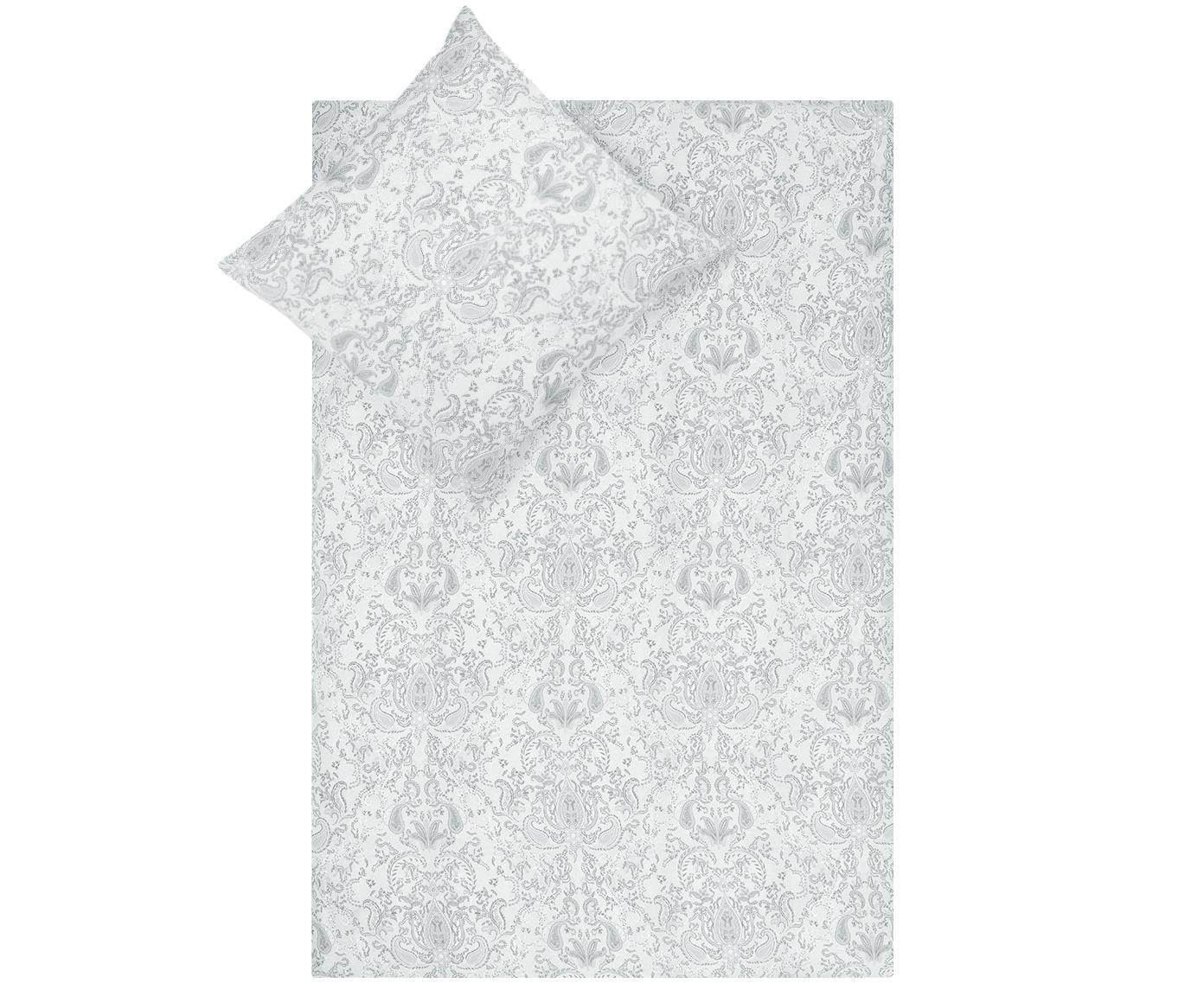 Pościel z satyny bawełnianej Grantham, Jasny szary, S 135 x D 200 cm