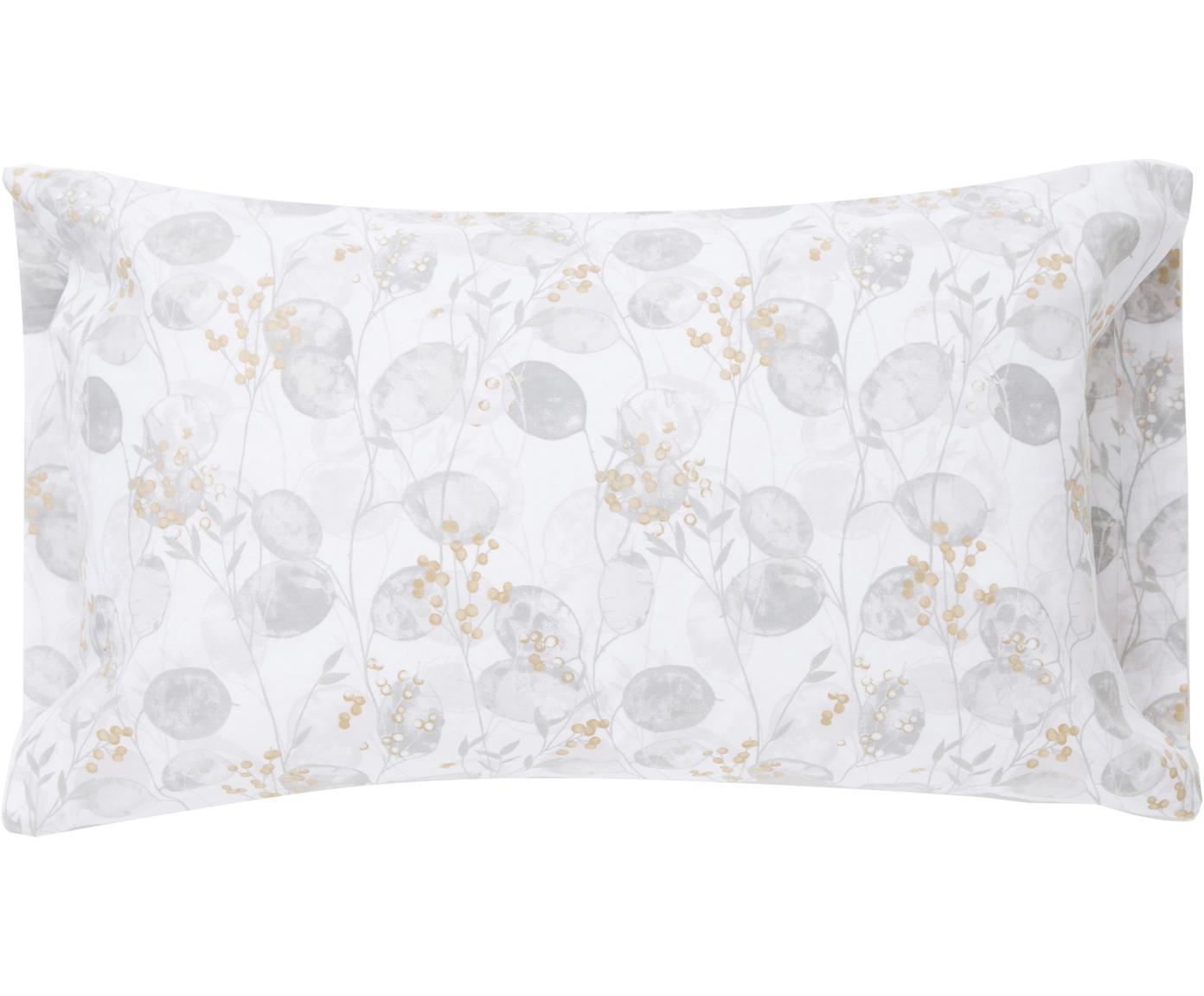 Funda de almohada Honesty, Algodón, Tonos grises, amarillo, An 50 x L 110 cm