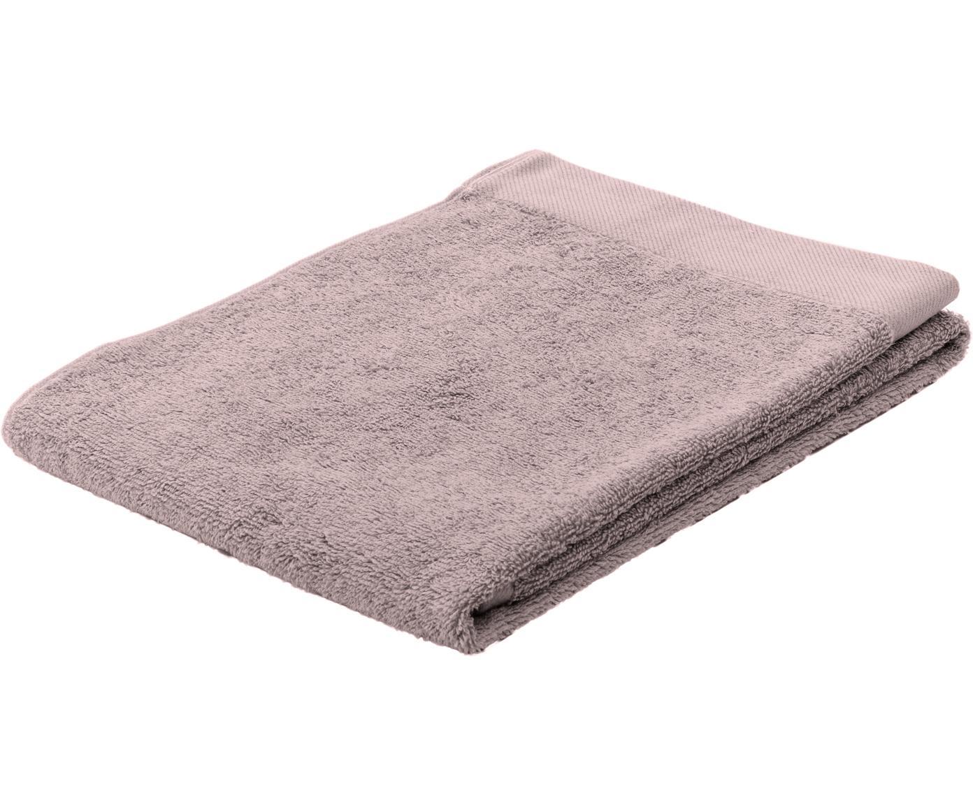 Asciugamano in cotone misto riciclato Blend, 65% cotone riciclato, 35% poliestere riciclato, Rosa cipria, Asciugamano per ospiti