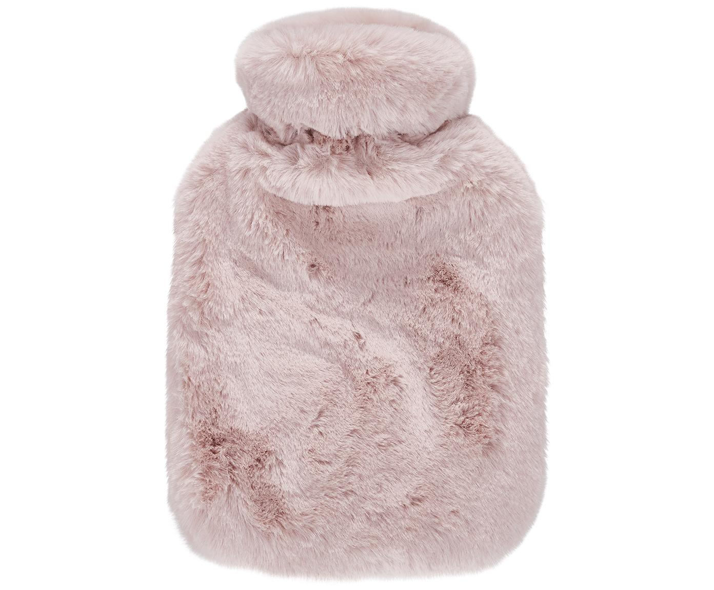 Bolsa de agua caliente de piel sintética Mette, Funda: 100%poliéster, Rosa, An 20 x L 32 cm