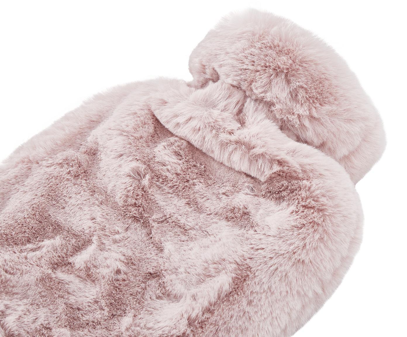 Kunstfell Wärmflasche Mette, Bezug: 100% Polyester, Rosa, 23 x 35 cm
