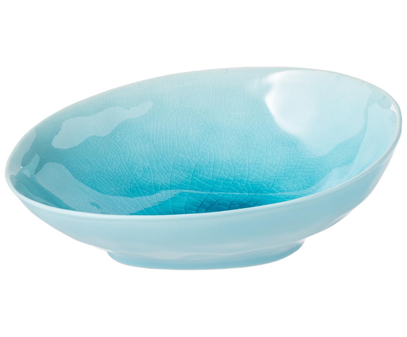 Kom à la Plage, Steengoed, craquele-glazuur, Turquoise, 18 x 20 cm