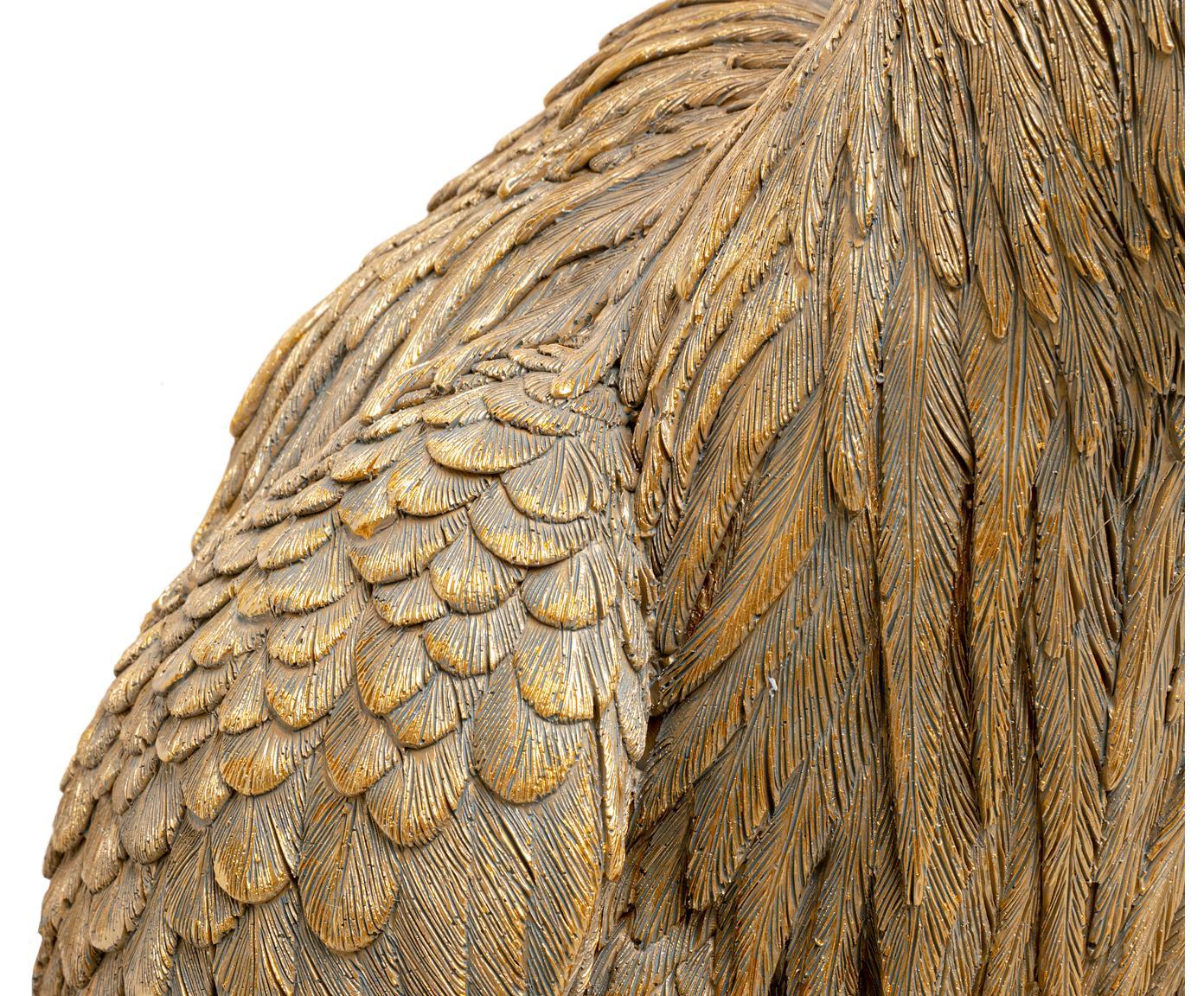 Applique Heron, Poliresina, Marrone, Larg. 26 x Alt. 62 cm