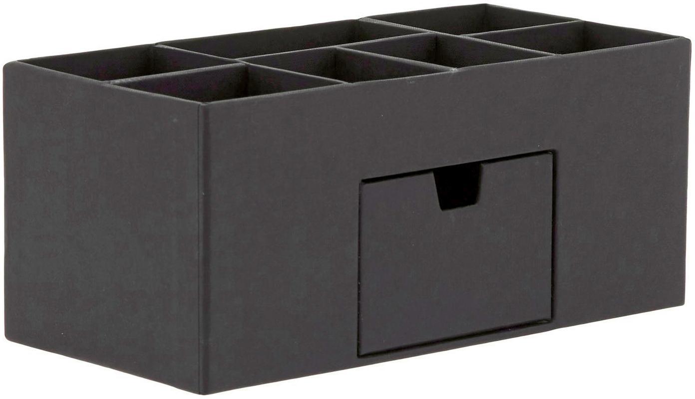Organizador de escritorio Vendela, Cartón laminado macizo, Negro, An 24 x Al 11 cm
