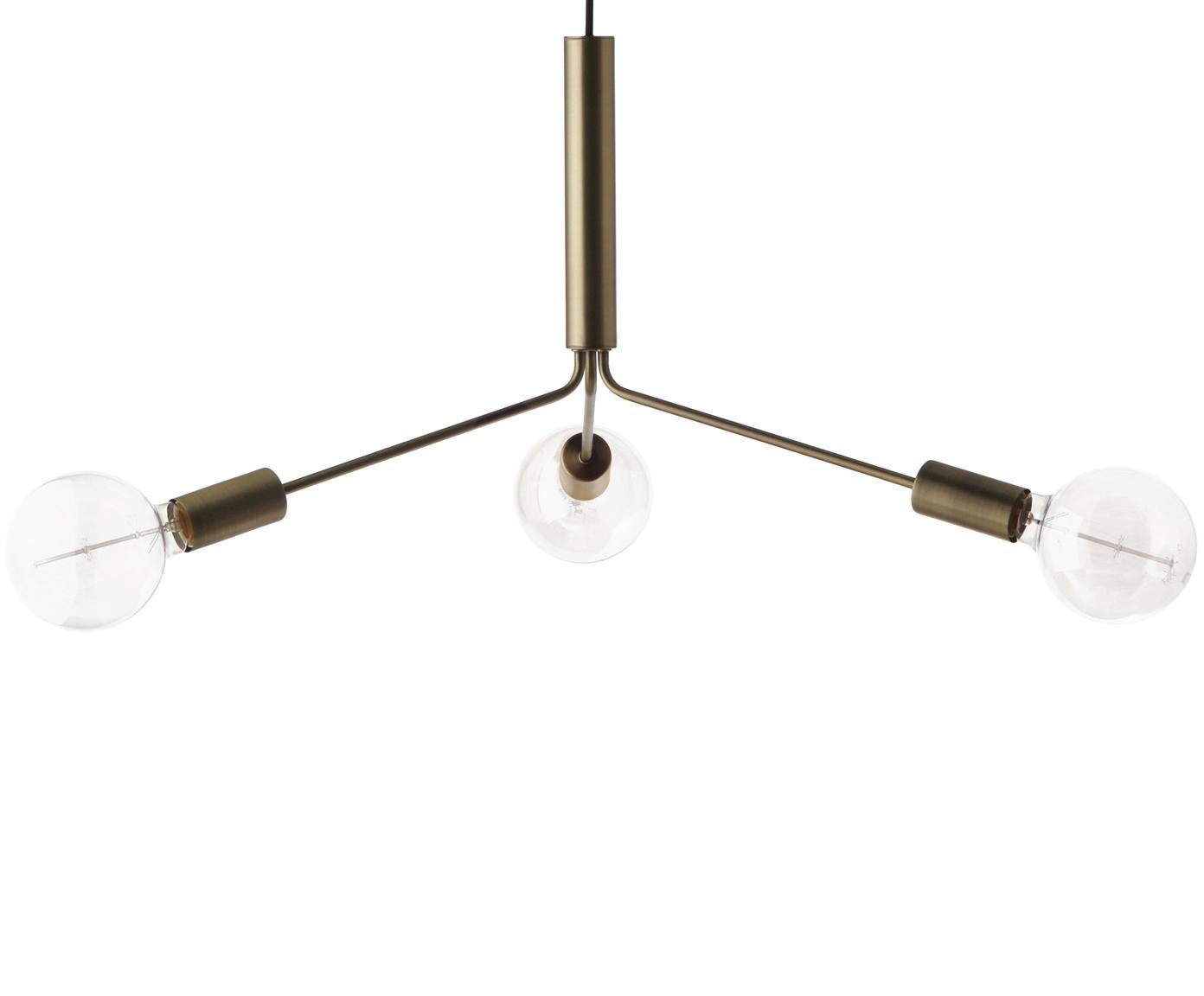 Lampada a sospensione Grand Metro, Metallo ottonato, Ottone opaco, Alt. 39 x Ø 78 cm