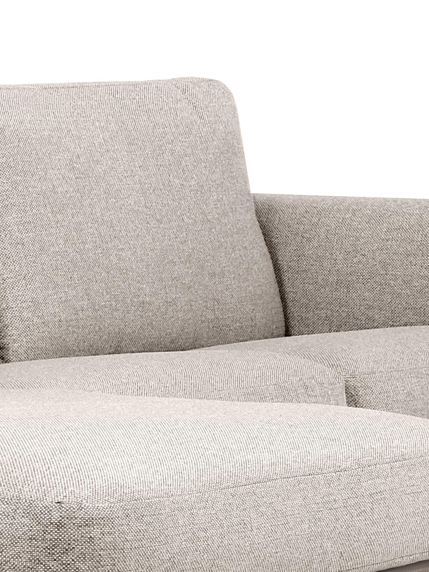 Ecksofa Cucita (3-Sitzer), Bezug: Webstoff (Polyester) Der , Gestell: Massives Kiefernholz, Webstoff Beige, B 262 x T 163 cm