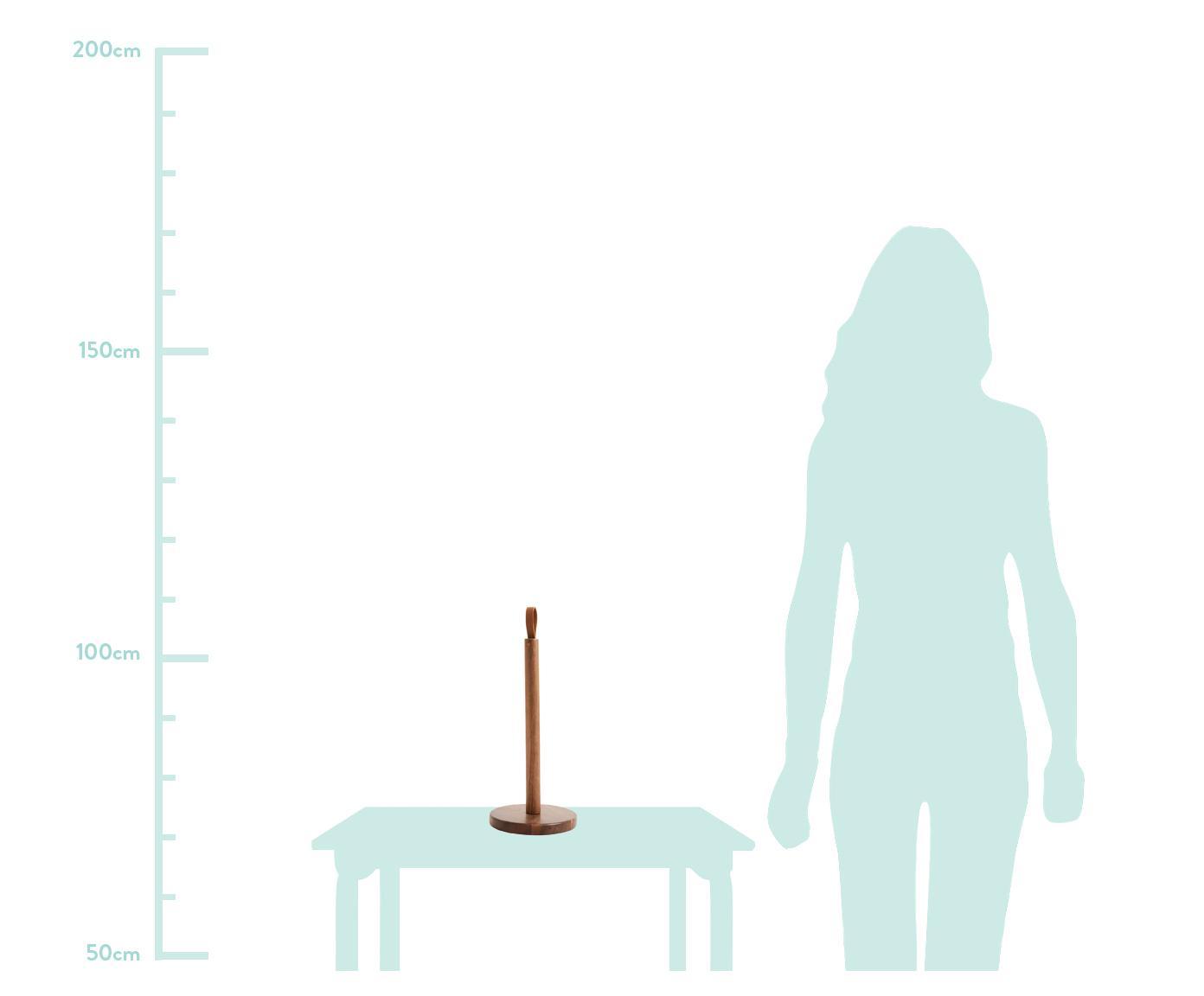 Küchenrollenhalter Woody, Schlaufe: Kunstleder, Akazienholz, Ø 15 x H 37 cm