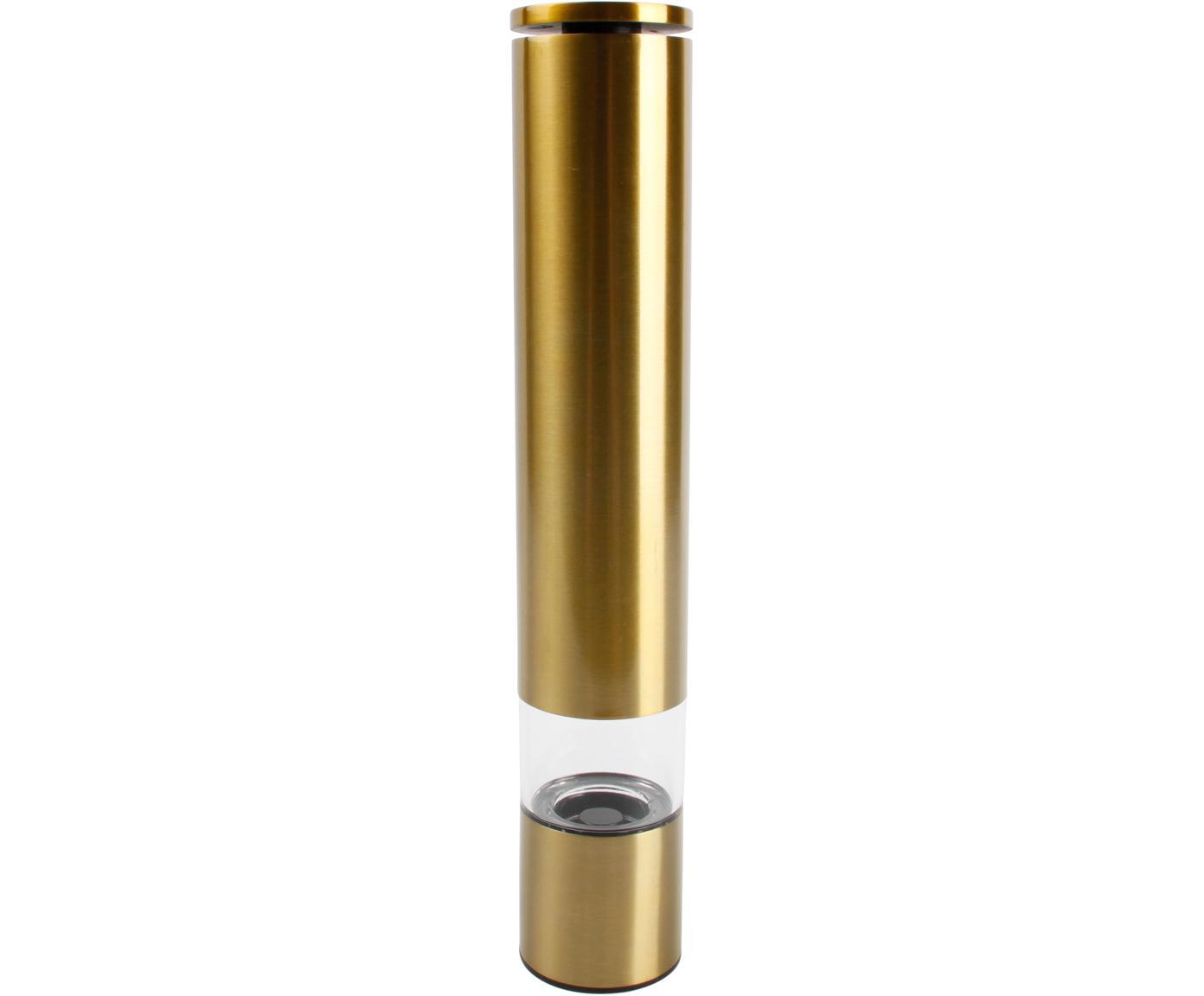 Gewürzmühle Sheda in Gold, Korpus: Acrylglas, Edelstahl, bes, Mahlwerk: Keramik, Kunststoff, Messingfarben, Ø 5 x H 29 cm