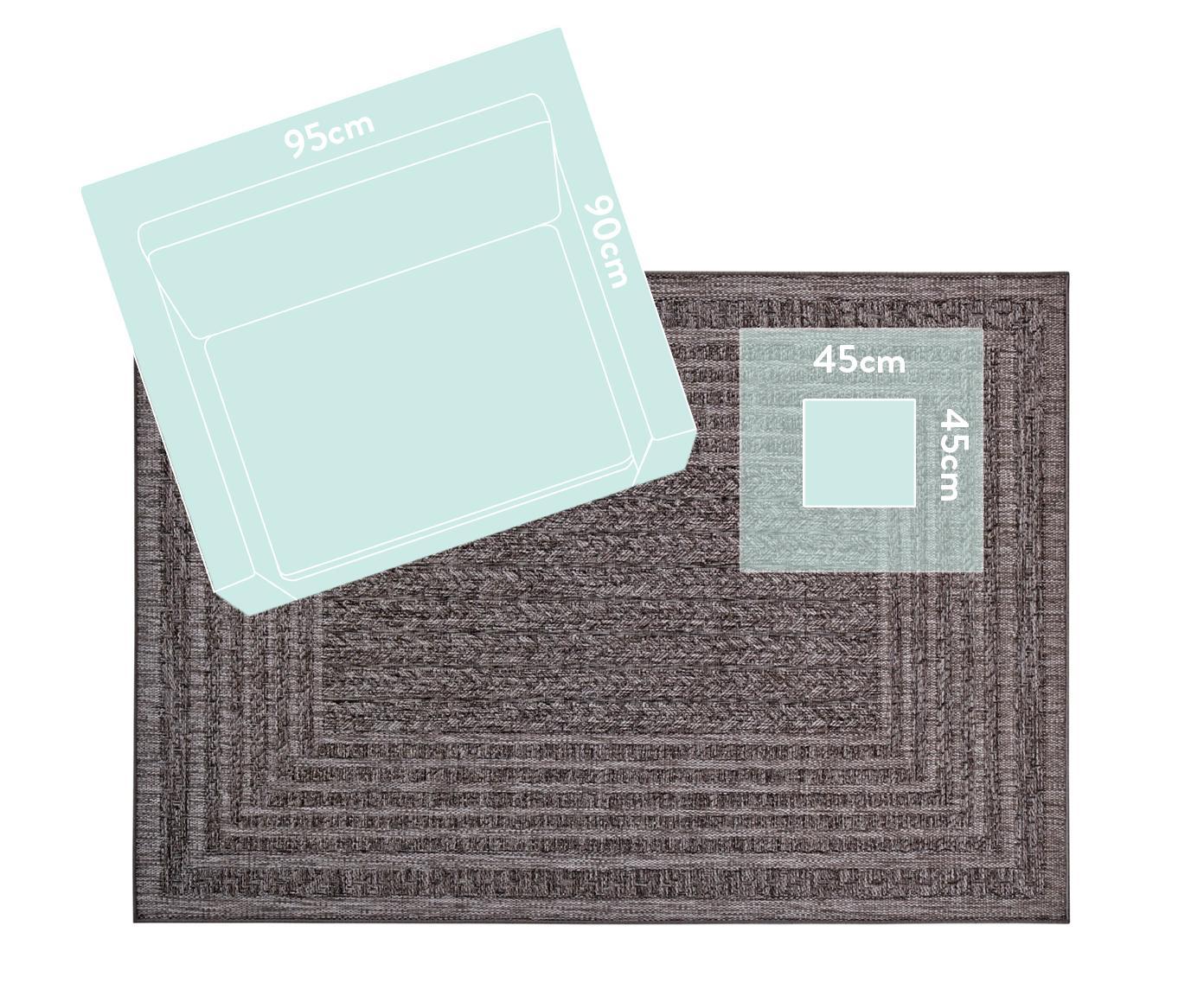 In- & Outdoor-Teppich Limonero in Jute Optik, 100% Polypropylen, Dunkelgrau, B 120 x L 170 cm (Größe S)